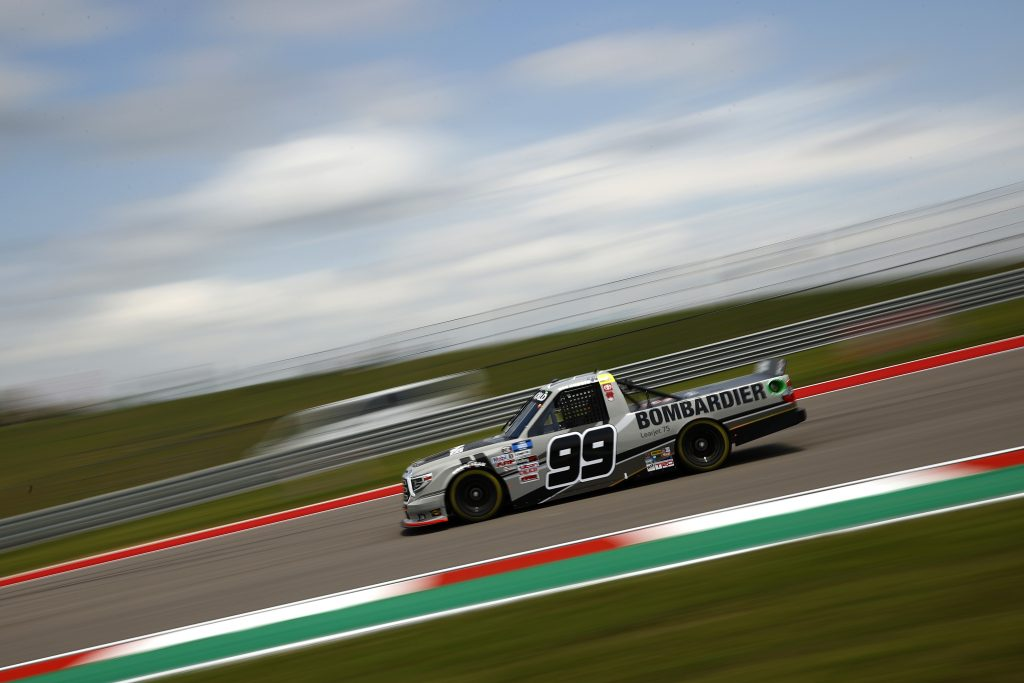 AUSTIN, TEXAS - MAY 21: Ben Rhodes, driver of the #99 Bombardier LearJet 75 Toyota, drives during practice for the NASCAR Camping World Truck Series Toyota Tundra 225 at Circuit of The Americas on May 21, 2021 in Austin, Texas. (Photo by Jared C. Tilton/Getty Images) | Getty Images