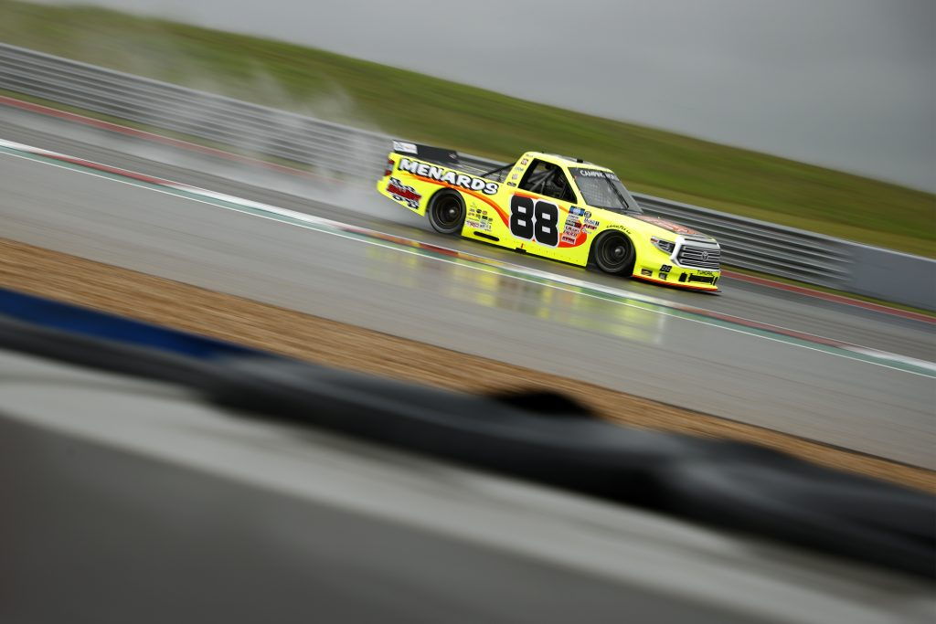 AUSTIN, TEXAS - MAY 22: Matt Crafton, driver of the #88 Oklahoma Joe's/Menards Toyota, drives during qualifying for the NASCAR Camping World Truck Series Toyota Tundra 225 Qualifying at Circuit of The Americas on May 22, 2021 in Austin, Texas. (Photo by Jared C. Tilton/Getty Images) | Getty Images