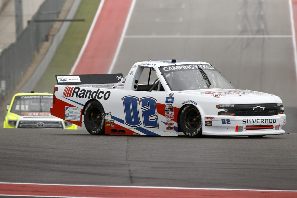 AUSTIN, TEXAS - MAY 22: Kaz Grala, driver of the #02 Young's Building Systems Chevrolet, drives during the NASCAR Camping World Truck Series Toyota Tundra 225 at Circuit of The Americas on May 22, 2021 in Austin, Texas. (Photo by Jared C. Tilton/Getty Images) | Getty Images
