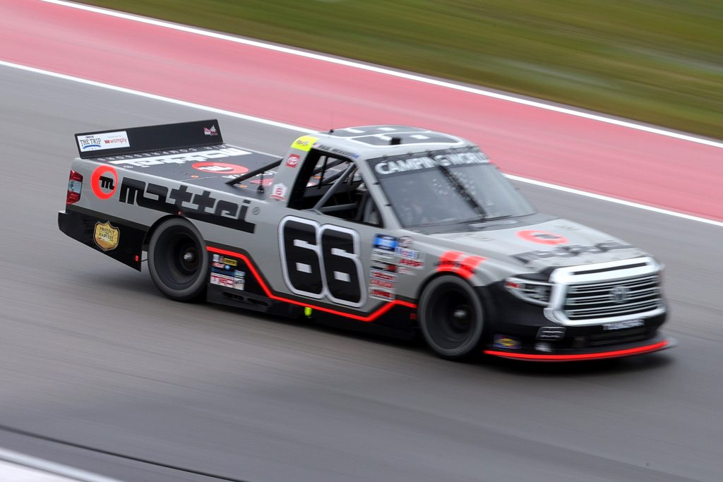 AUSTIN, TEXAS - MAY 22: Paul Menard, driver of the #66 Mattei Air Compressors Toyota, drives during the NASCAR Camping World Truck Series Toyota Tundra 225 at Circuit of The Americas on May 22, 2021 in Austin, Texas. (Photo by Carmen Mandato/Getty Images) | Getty Images