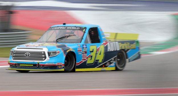 AUSTIN, TEXAS - MAY 22: Lawless Alan, driver of the #34 Auto Parkit Toyota, drives during the NASCAR Camping World Truck Series Toyota Tundra 225 at Circuit of The Americas on May 22, 2021 in Austin, Texas. (Photo by Carmen Mandato/Getty Images) | Getty Images