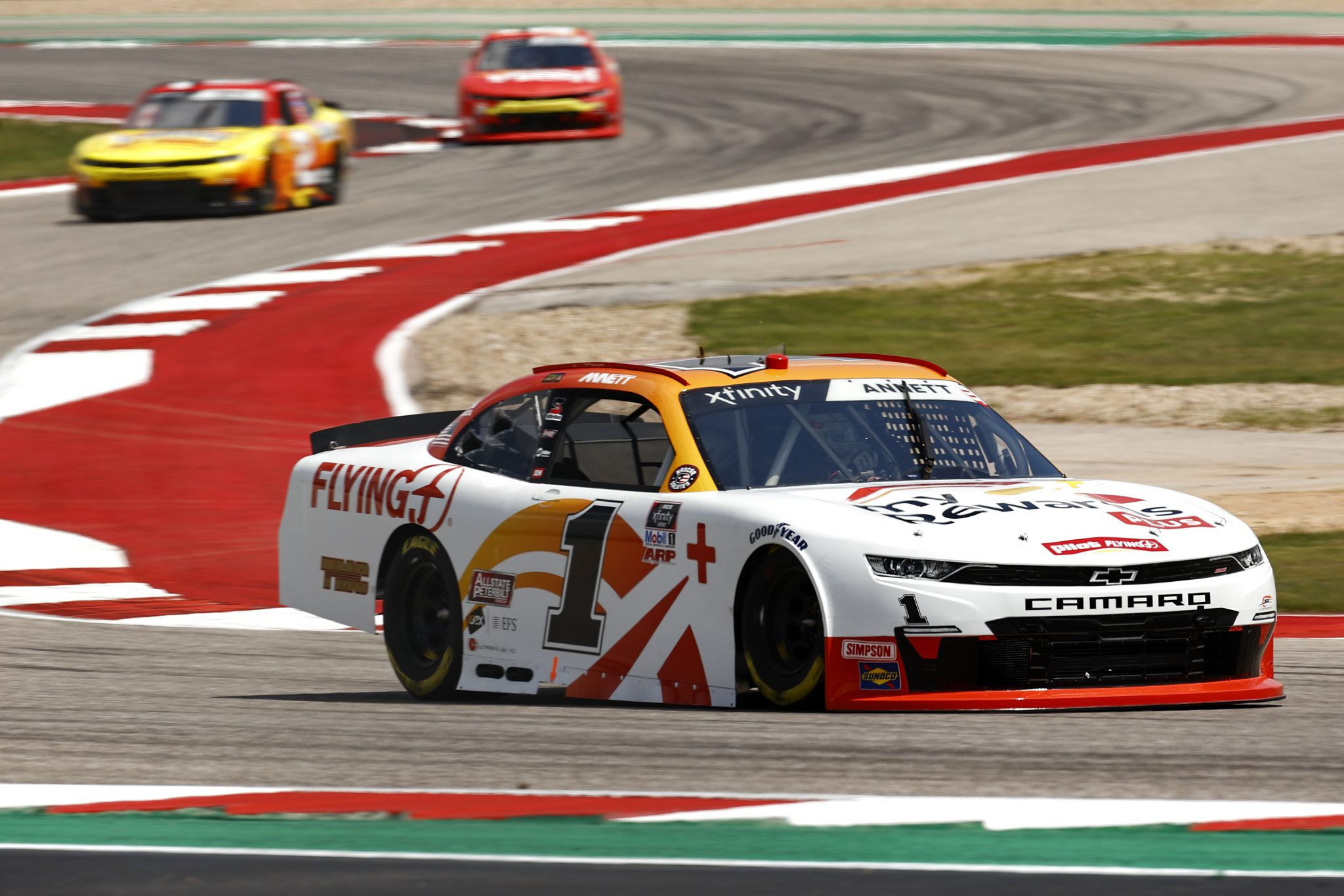 AUSTIN, TEXAS - MAY 21: Michael Annett, driver of the #1 Pilot Flying J myRewards Plus Chevrolet, drives during practice for the NASCAR Xfinity Series Pit Boss 250 at Circuit of The Americas on May 21, 2021 in Austin, Texas. (Photo by Jared C. Tilton/Getty Images) | Getty Images