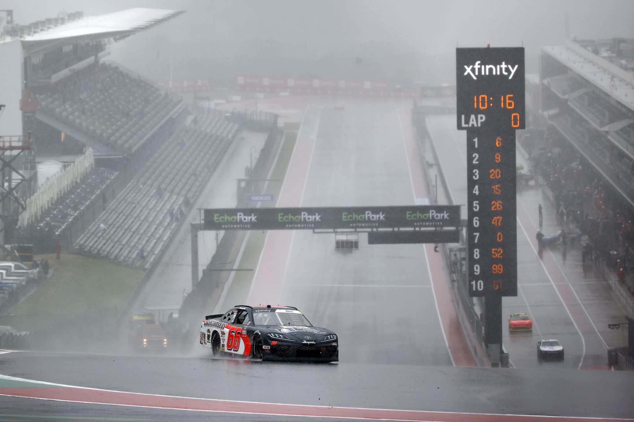 AUSTIN, TEXAS - MAY 22: Timmy Hill, driver of the #66 CrashClaimsR.US Toyota, drives during qualifying for the NASCAR Xfinity Series Pit Boss 250 at Circuit of The Americas on May 22, 2021 in Austin, Texas. (Photo by Jared C. Tilton/Getty Images) | Getty Images