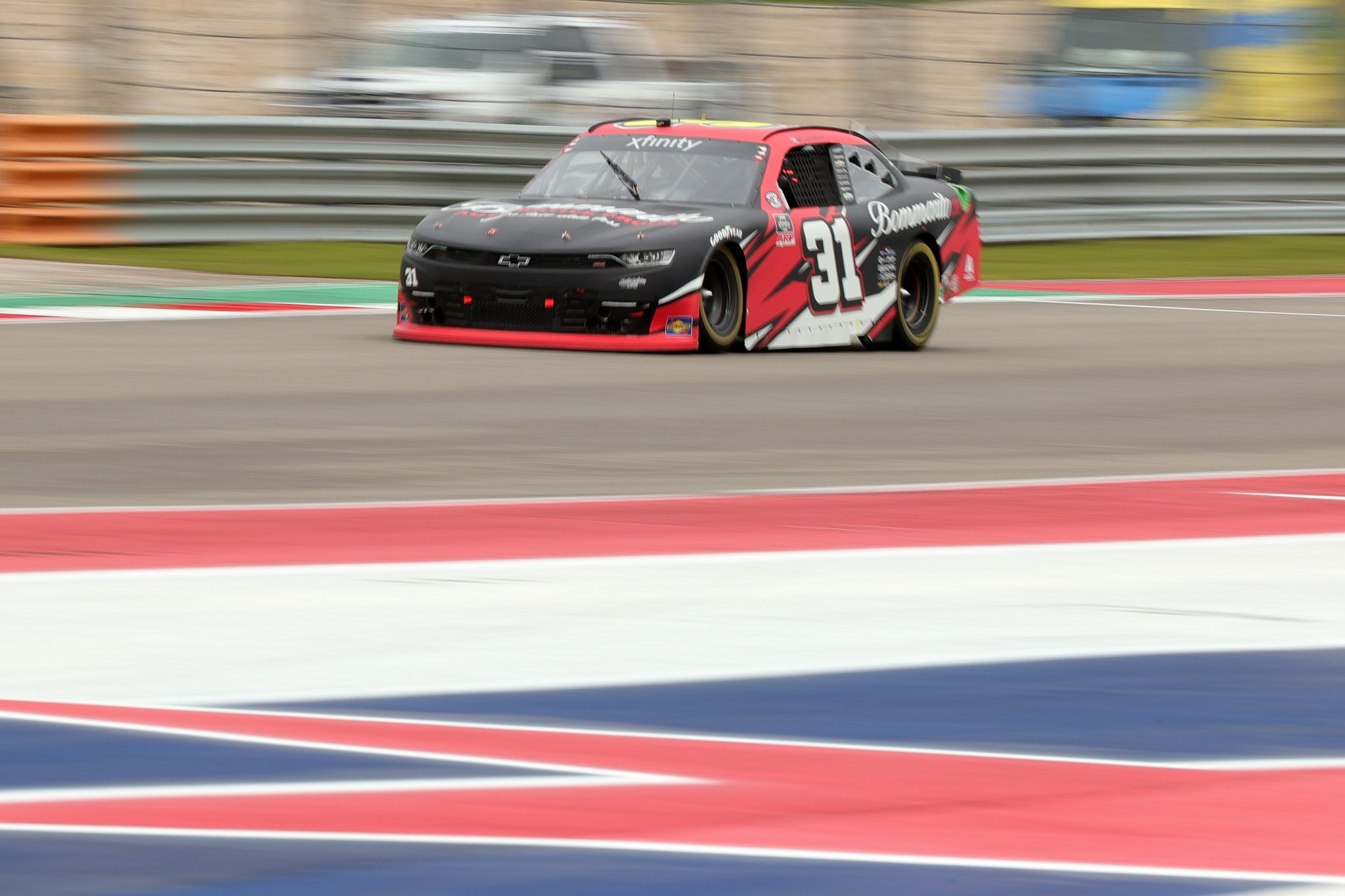 AUSTIN, TEXAS - MAY 22: Tyler Reddick, driver of the #31 Bommarito Automotive Group Chevrolet, drives during the NASCAR Xfinity Series Pit Boss 250 at Circuit of The Americas on May 22, 2021 in Austin, Texas. (Photo by Carmen Mandato/Getty Images) | Getty Images
