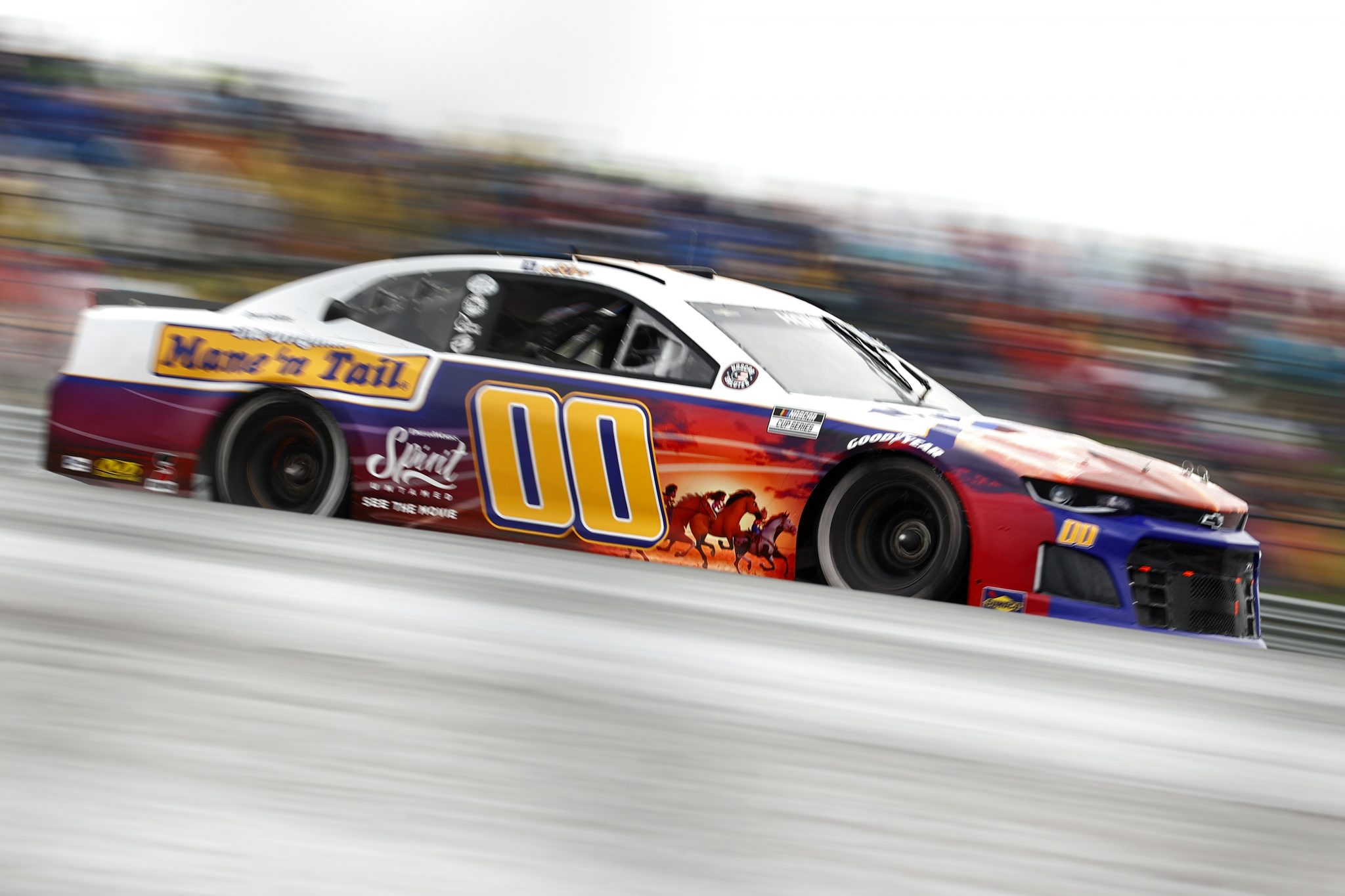 AUSTIN, TEXAS - MAY 23: Quin Houff, driver of the #00 Mane 'n Tail/Spirit Untamed Chevrolet, drives during the NASCAR Cup Series EchoPark Texas Grand Prix at Circuit of The Americas on May 23, 2021 in Austin, Texas. (Photo by Jared C. Tilton/Getty Images)   Getty Images