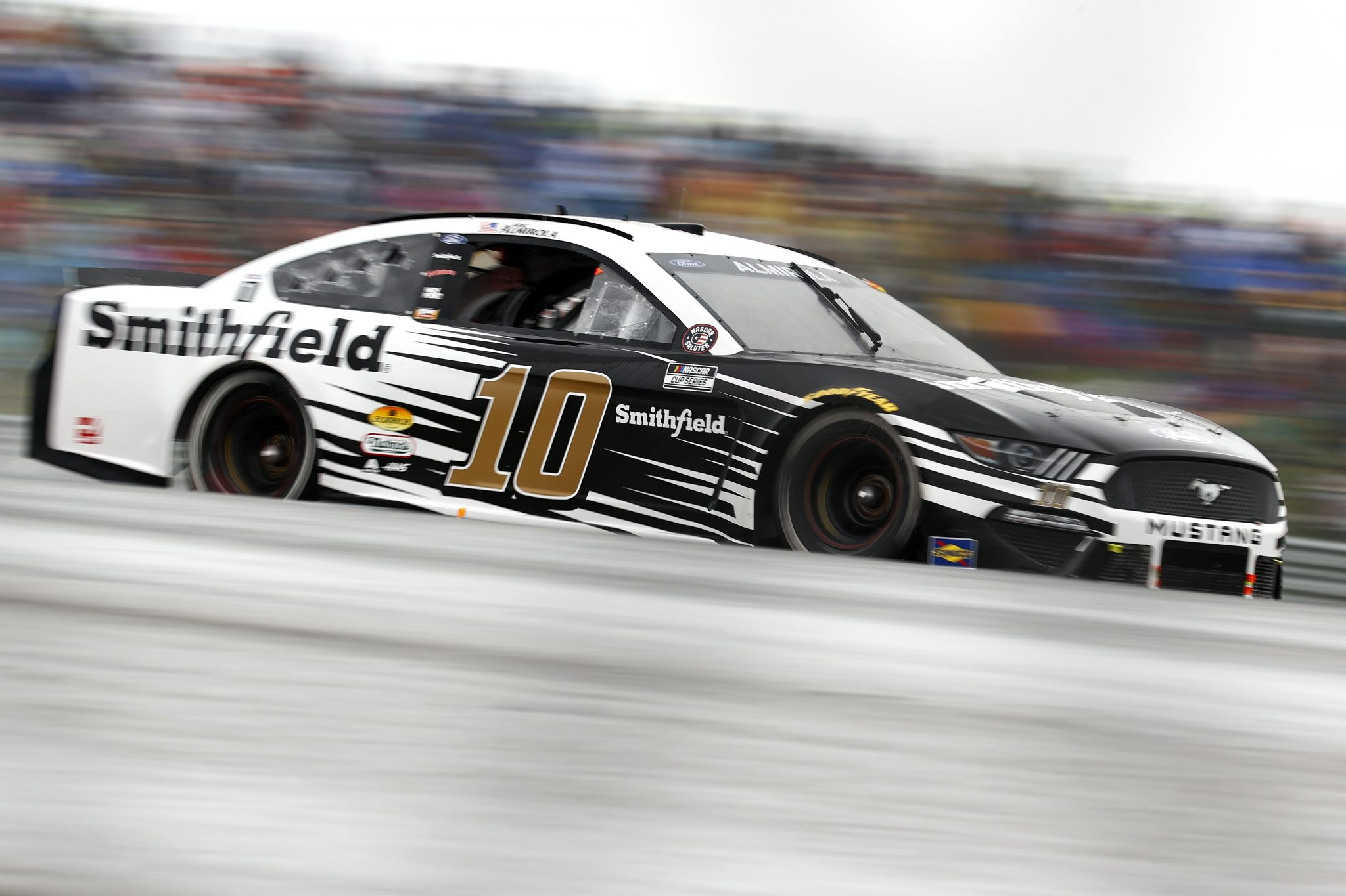AUSTIN, TEXAS - MAY 23: Aric Almirola, driver of the #10 Smithfield Ford, drives during the NASCAR Cup Series EchoPark Texas Grand Prix at Circuit of The Americas on May 23, 2021 in Austin, Texas. (Photo by Jared C. Tilton/Getty Images)   Getty Images