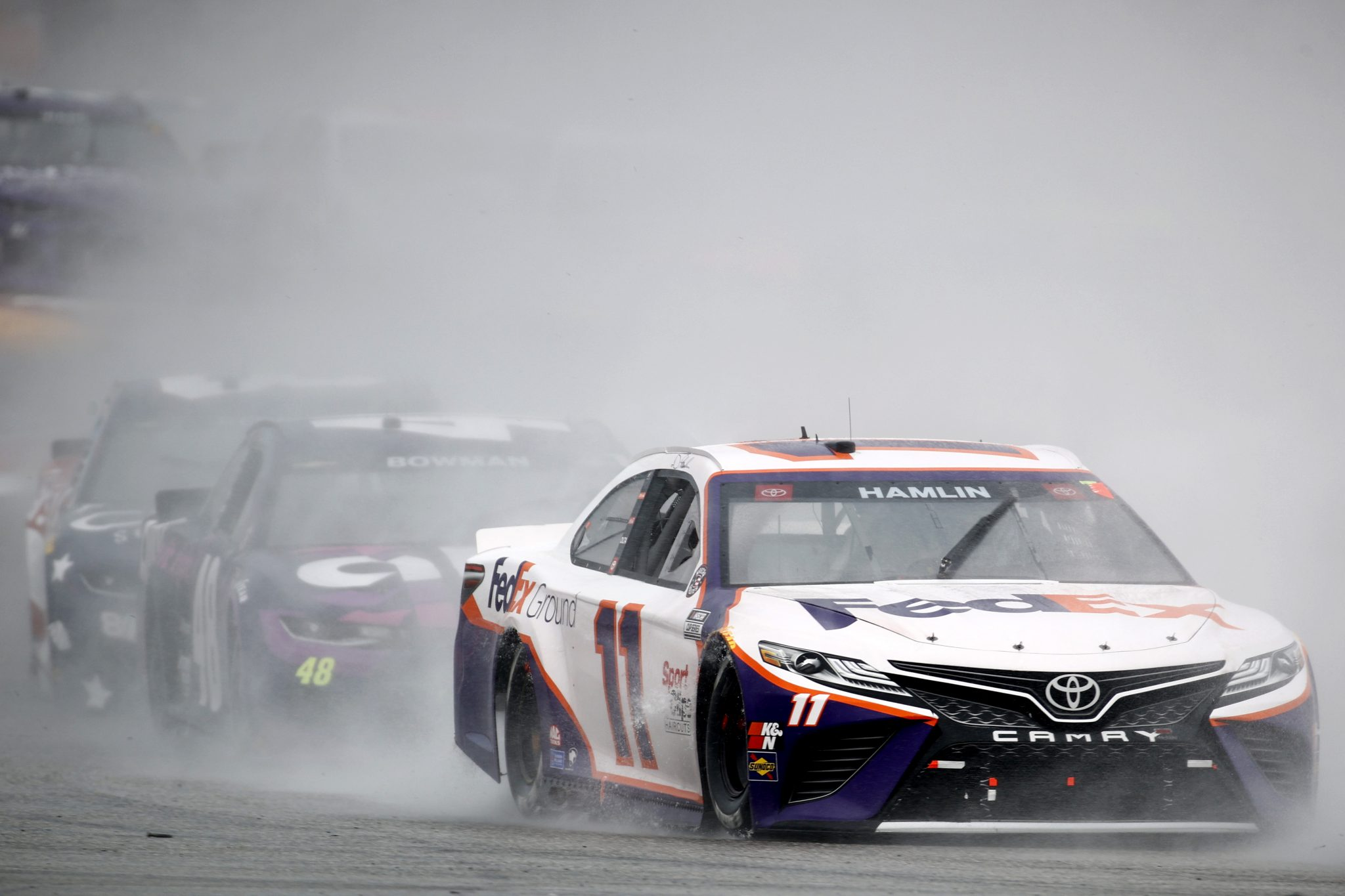 AUSTIN, TEXAS - MAY 23: Denny Hamlin, driver of the #11 FedEx Ground Toyota, drives during the NASCAR Cup Series EchoPark Texas Grand Prix at Circuit of The Americas on May 23, 2021 in Austin, Texas. (Photo by Jared C. Tilton/Getty Images)   Getty Images