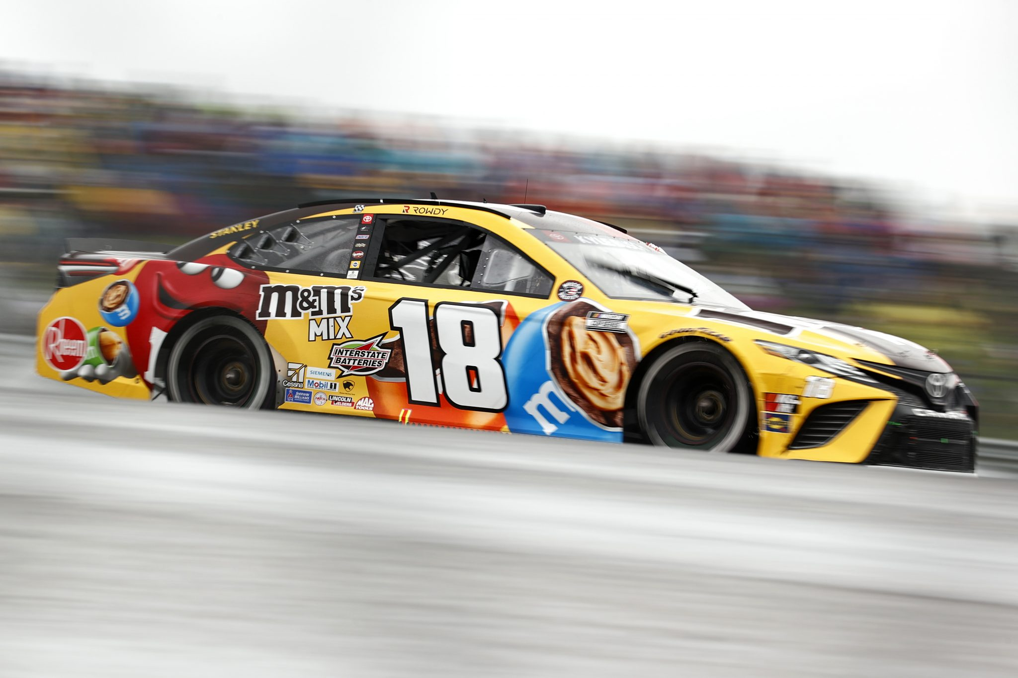 AUSTIN, TEXAS - MAY 23: Kyle Busch, driver of the #18 M&M's Mix Toyota, drives during the NASCAR Cup Series EchoPark Texas Grand Prix at Circuit of The Americas on May 23, 2021 in Austin, Texas. (Photo by Jared C. Tilton/Getty Images) | Getty Images