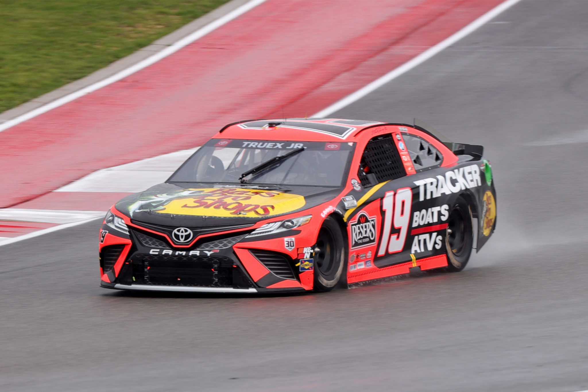 AUSTIN, TEXAS - MAY 23: Martin Truex Jr., driver of the #19 Bass Pro Toyota, drives during the NASCAR Cup Series EchoPark Texas Grand Prix at Circuit of The Americas on May 23, 2021 in Austin, Texas. (Photo by Carmen Mandato/Getty Images) | Getty Images