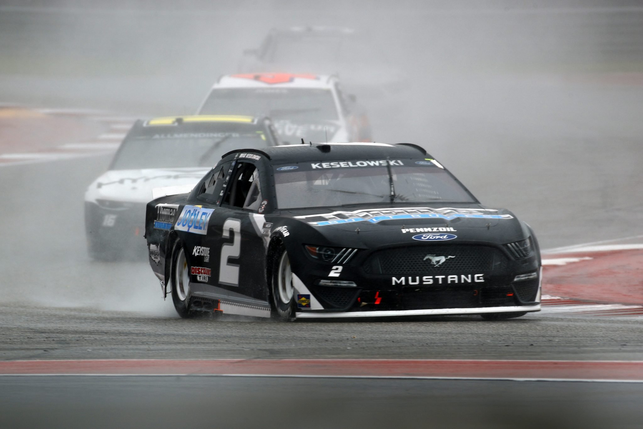 AUSTIN, TEXAS - MAY 23: Brad Keselowski, driver of the #2 Thomas Built Buses Ford, drives during the NASCAR Cup Series EchoPark Texas Grand Prix at Circuit of The Americas on May 23, 2021 in Austin, Texas. (Photo by Jared C. Tilton/Getty Images)   Getty Images