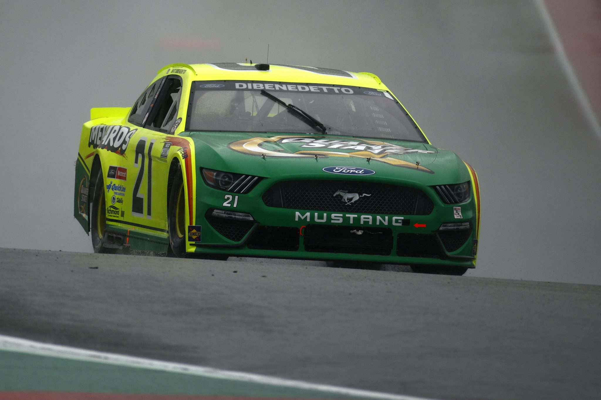 AUSTIN, TEXAS - MAY 23: Matt DiBenedetto, driver of the #21 Menards/Quaker State Ford, drives during the NASCAR Cup Series EchoPark Texas Grand Prix at Circuit of The Americas on May 23, 2021 in Austin, Texas. (Photo by Jared C. Tilton/Getty Images)   Getty Images