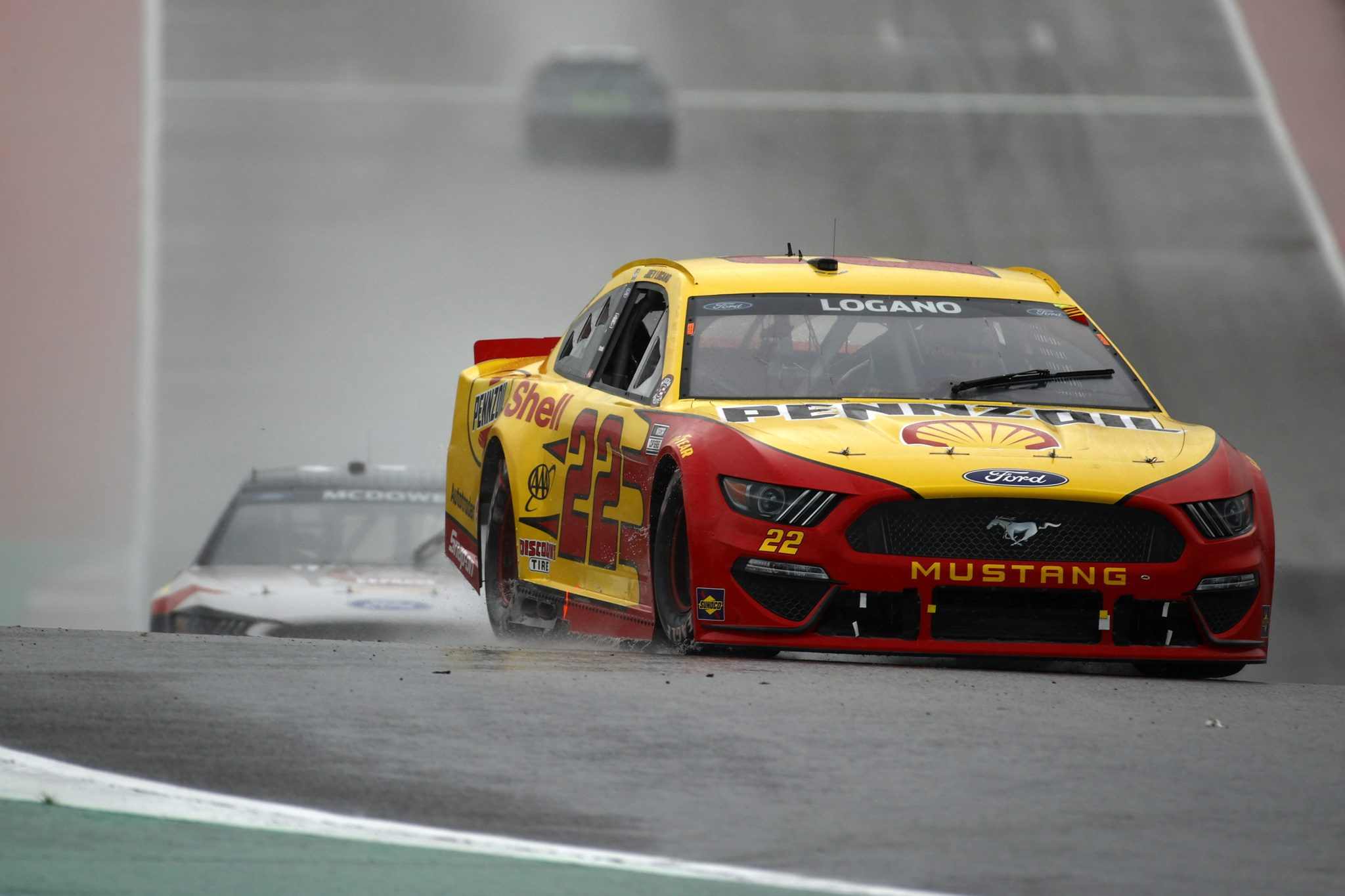 AUSTIN, TEXAS - MAY 23: Joey Logano, driver of the #22 Shell Pennzoil Ford, drives during the NASCAR Cup Series EchoPark Texas Grand Prix at Circuit of The Americas on May 23, 2021 in Austin, Texas. (Photo by Jared C. Tilton/Getty Images) | Getty Images
