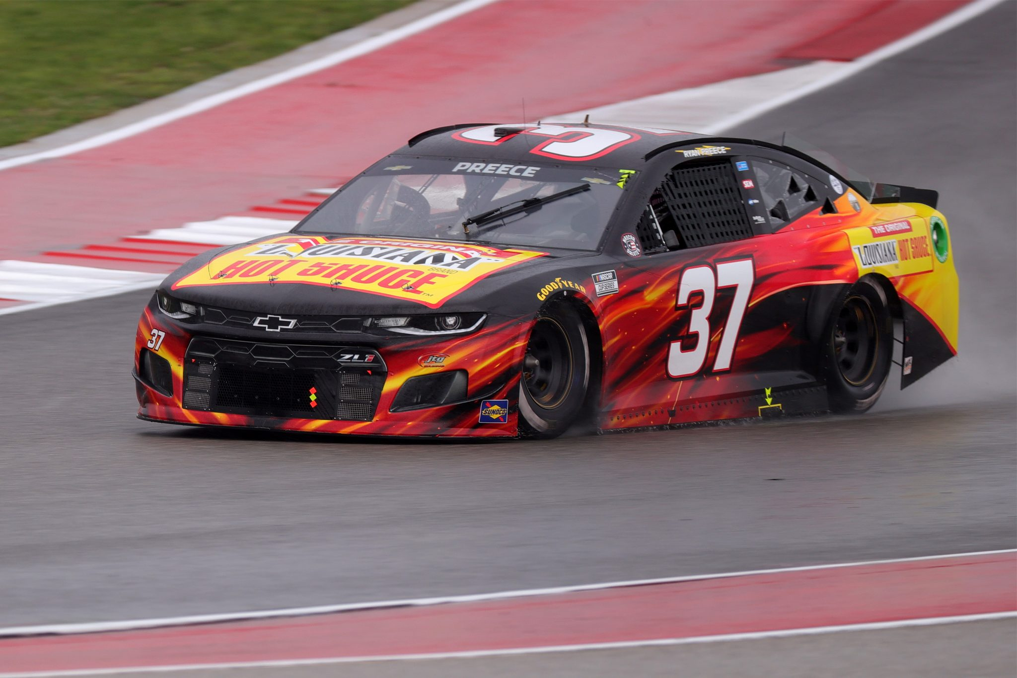 AUSTIN, TEXAS - MAY 23: Ryan Preece, driver of the #37 Louisiana Hot Sauce Chevrolet, drives during the NASCAR Cup Series EchoPark Texas Grand Prix at Circuit of The Americas on May 23, 2021 in Austin, Texas. (Photo by Carmen Mandato/Getty Images) | Getty Images