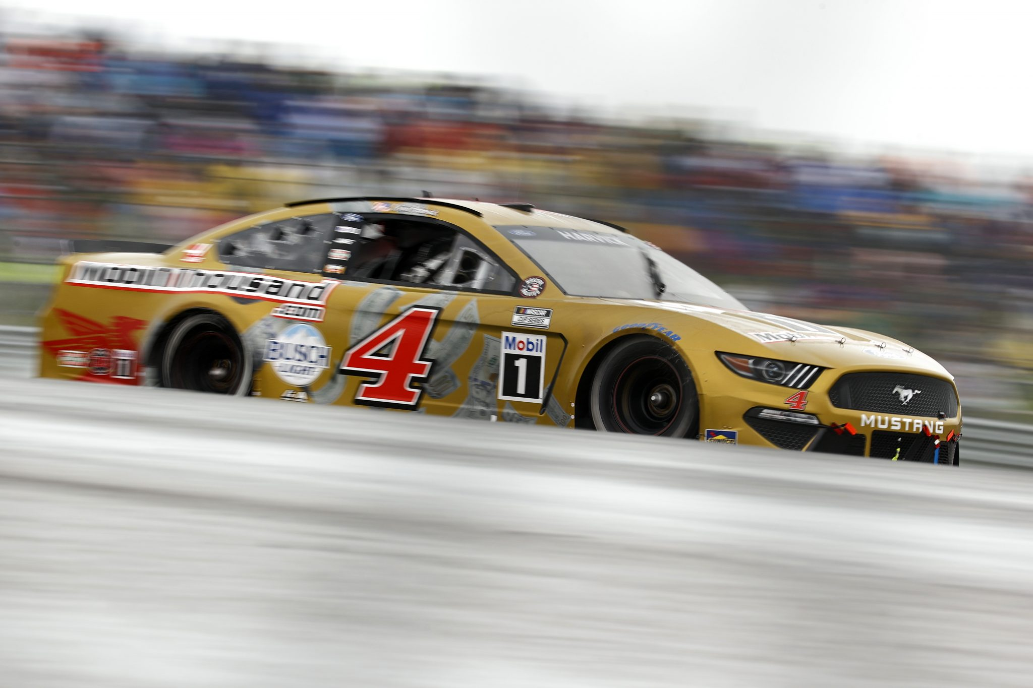 AUSTIN, TEXAS - MAY 23: Kevin Harvick, driver of the #4 Mobil1Thousand.com Ford, drives during the NASCAR Cup Series EchoPark Texas Grand Prix at Circuit of The Americas on May 23, 2021 in Austin, Texas. (Photo by Jared C. Tilton/Getty Images)   Getty Images