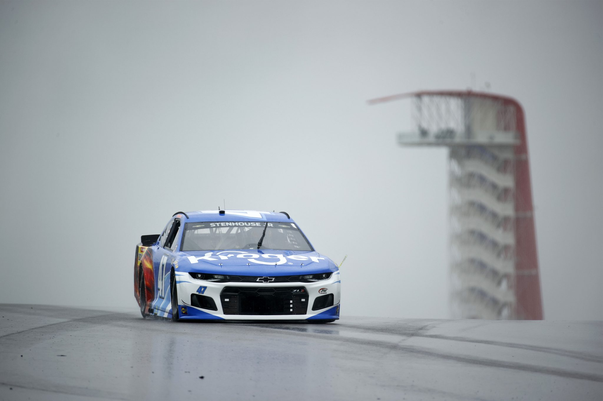AUSTIN, TEXAS - MAY 22: Ricky Stenhouse Jr., driver of the #47 Kroger/Louisiana Hot Sauce Chevrolet, drives during practice for the NASCAR Cup Series EchoPark Texas Grand at Circuit of The Americas on May 22, 2021 in Austin, Texas. (Photo by Jared C. Tilton/Getty Images)   Getty Images