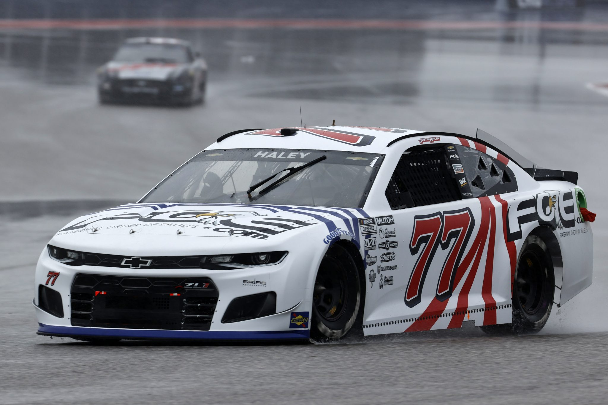 AUSTIN, TEXAS - MAY 22: Justin Haley, driver of the #77 Fraternal Order of Eagles Chevrolet, drives during practice for the NASCAR Cup Series EchoPark Texas Grand at Circuit of The Americas on May 22, 2021 in Austin, Texas. (Photo by Chris Graythen/Getty Images) | Getty Images
