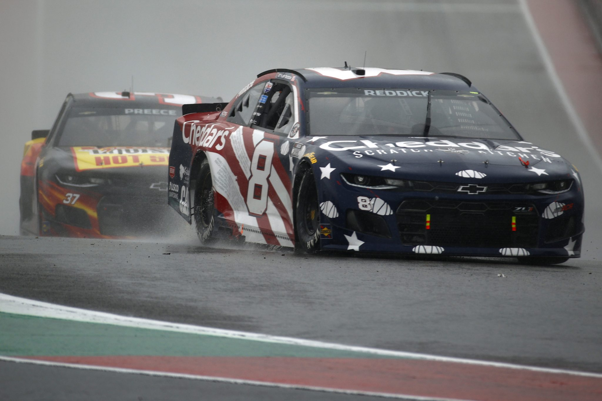 AUSTIN, TEXAS - MAY 23: Tyler Reddick, driver of the #8 Cheddar's Chevrolet, drives during the NASCAR Cup Series EchoPark Texas Grand Prix at Circuit of The Americas on May 23, 2021 in Austin, Texas. (Photo by Jared C. Tilton/Getty Images)   Getty Images