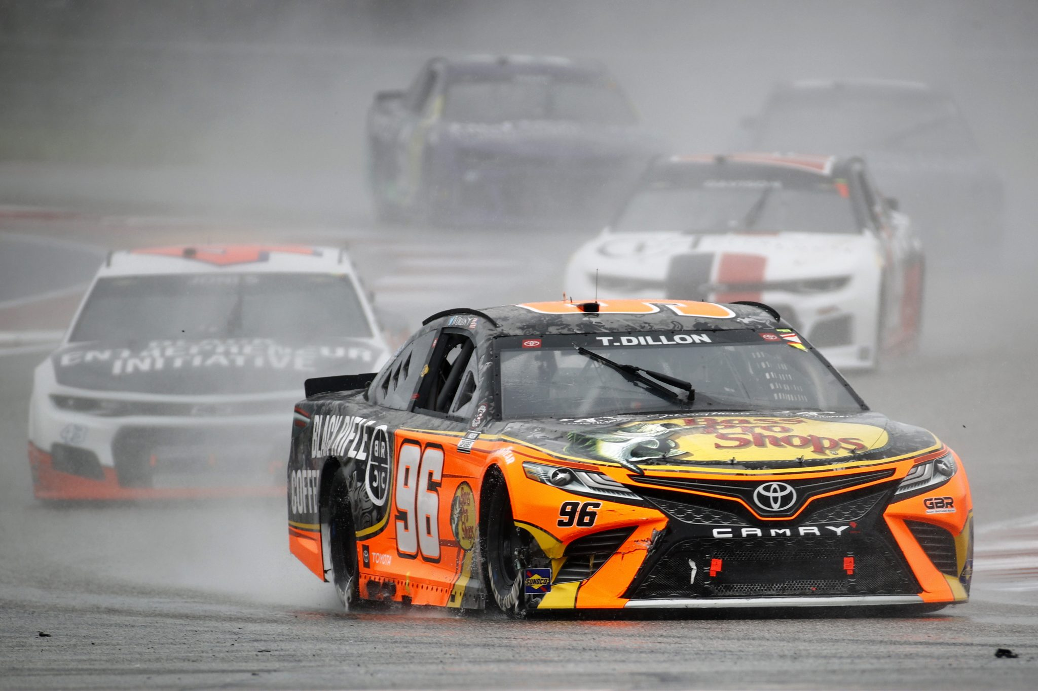 AUSTIN, TEXAS - MAY 23: Ty Dillon, driver of the #96 Bass Pro Shops/Black Rifle Coffee Toyota, drives during the NASCAR Cup Series EchoPark Texas Grand Prix at Circuit of The Americas on May 23, 2021 in Austin, Texas. (Photo by Jared C. Tilton/Getty Images)   Getty Images