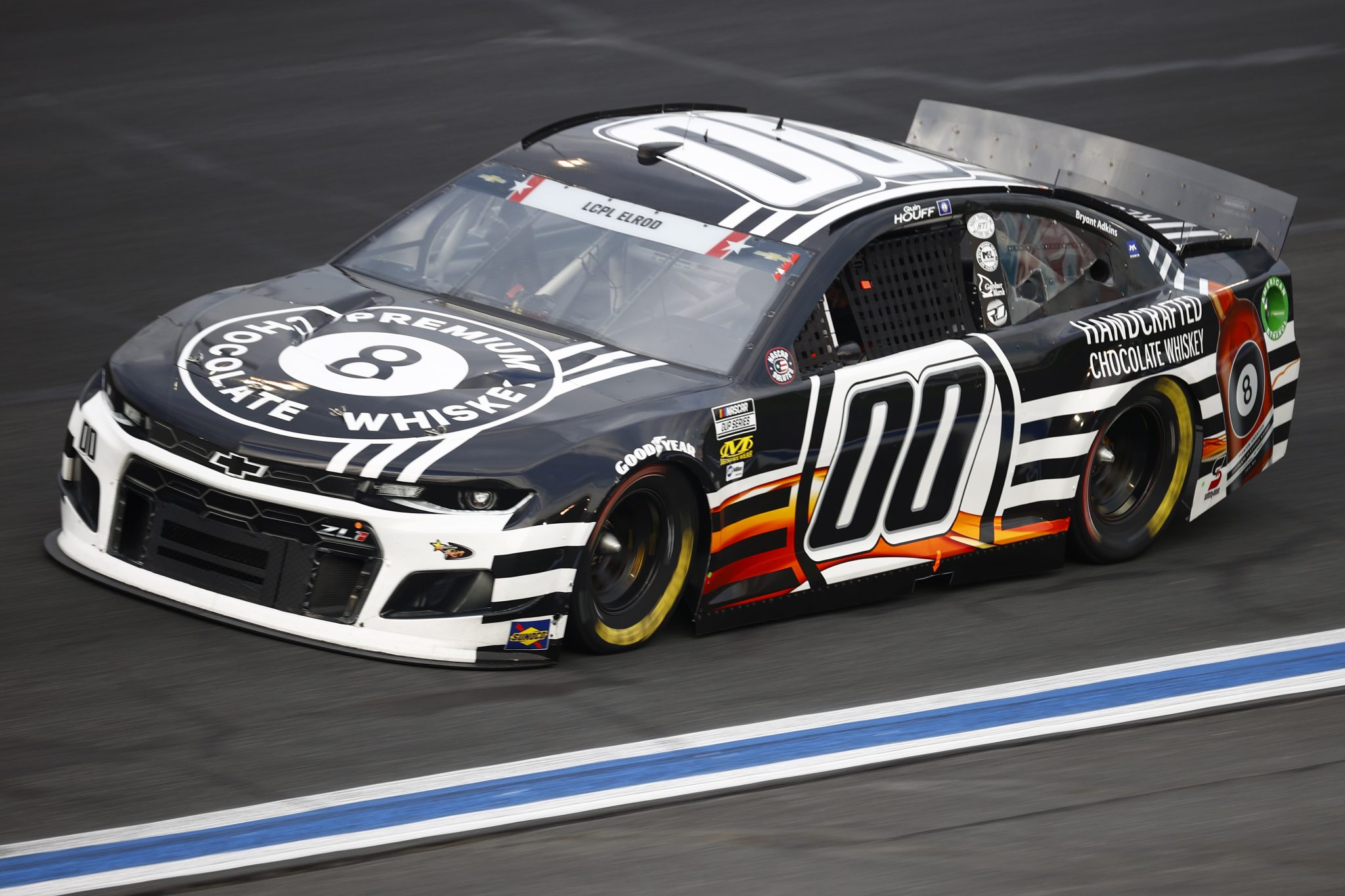 CONCORD, NORTH CAROLINA - MAY 28: Quin Houff, driver of the #00 8 Ball Chocolate Whiskey Chevrolet, drives during practice for the NASCAR Cup Series Coca-Cola 600 at Charlotte Motor Speedway on May 28, 2021 in Concord, North Carolina. (Photo by Jared C. Tilton/Getty Images) | Getty Images