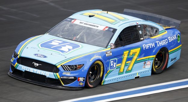 CONCORD, NORTH CAROLINA - MAY 28: Chris Buescher, driver of the #17 Fifth Thrid Bank Ford, drives during practice for the NASCAR Cup Series Coca-Cola 600 at Charlotte Motor Speedway on May 28, 2021 in Concord, North Carolina. (Photo by Jared C. Tilton/Getty Images) | Getty Images
