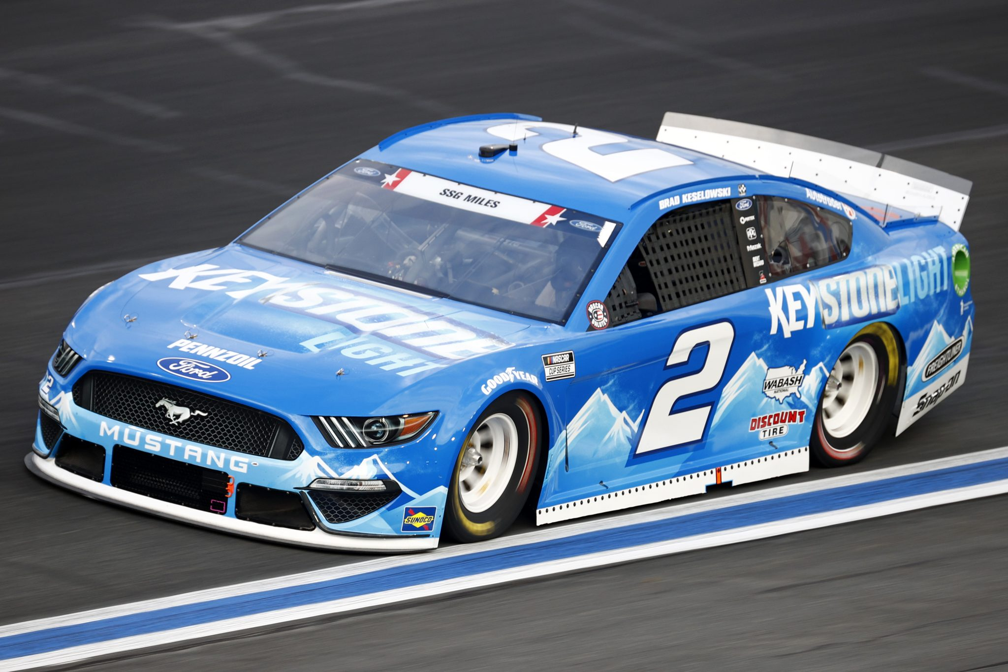 CONCORD, NORTH CAROLINA - MAY 28: Brad Keselowski, driver of the #2 Keystone Light Ford, drives during practice for the NASCAR Cup Series Coca-Cola 600 at Charlotte Motor Speedway on May 28, 2021 in Concord, North Carolina. (Photo by Jared C. Tilton/Getty Images) | Getty Images