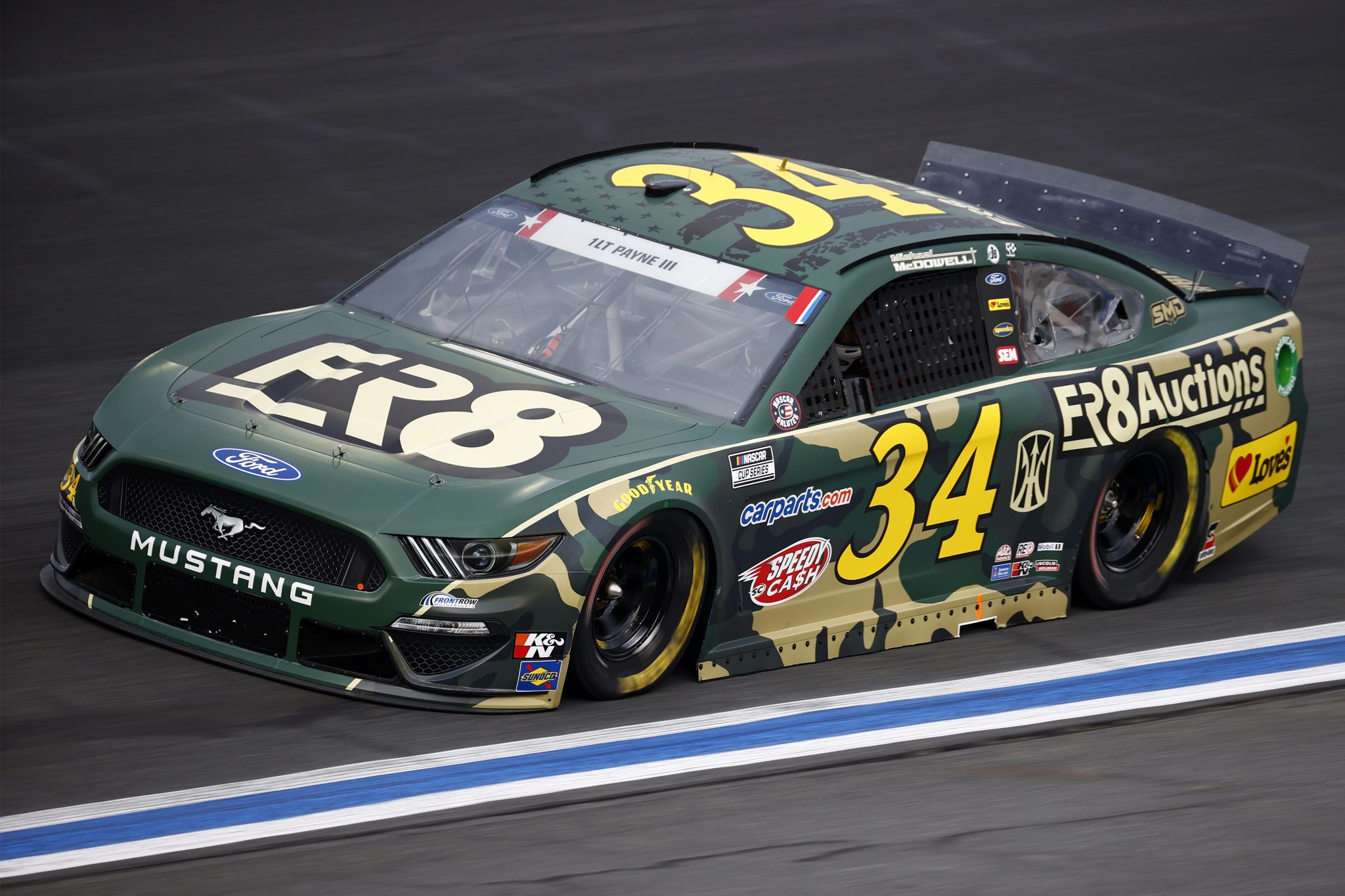 CONCORD, NORTH CAROLINA - MAY 28: Michael McDowell, driver of the #34 Fr8Auctions Ford, drives during practice for the NASCAR Cup Series Coca-Cola 600 at Charlotte Motor Speedway on May 28, 2021 in Concord, North Carolina. (Photo by Jared C. Tilton/Getty Images) | Getty Images