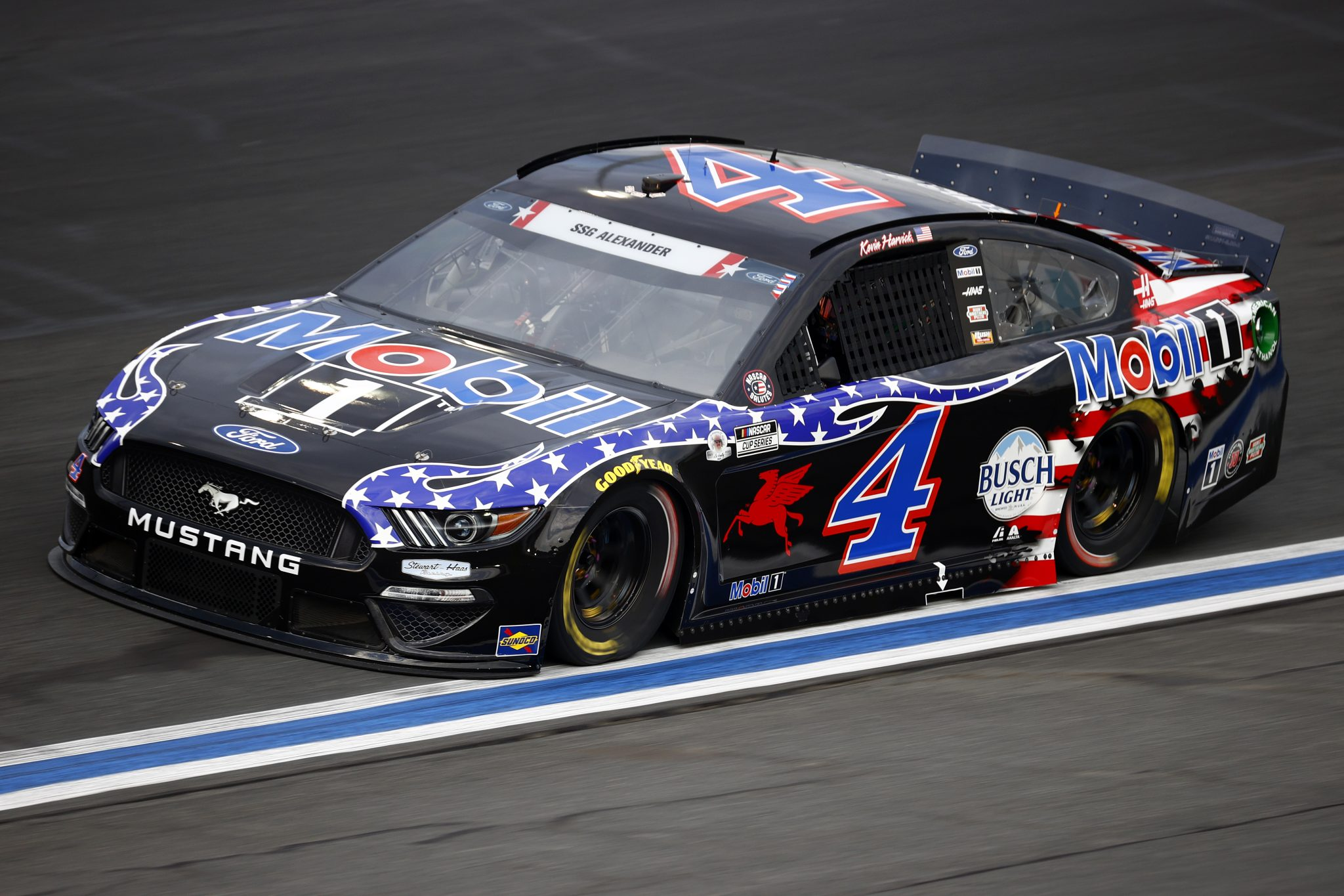 CONCORD, NORTH CAROLINA - MAY 28: Kevin Harvick, driver of the #4 Mobil 1 Ford, drives during practice for the NASCAR Cup Series Coca-Cola 600 at Charlotte Motor Speedway on May 28, 2021 in Concord, North Carolina. (Photo by Jared C. Tilton/Getty Images) | Getty Images