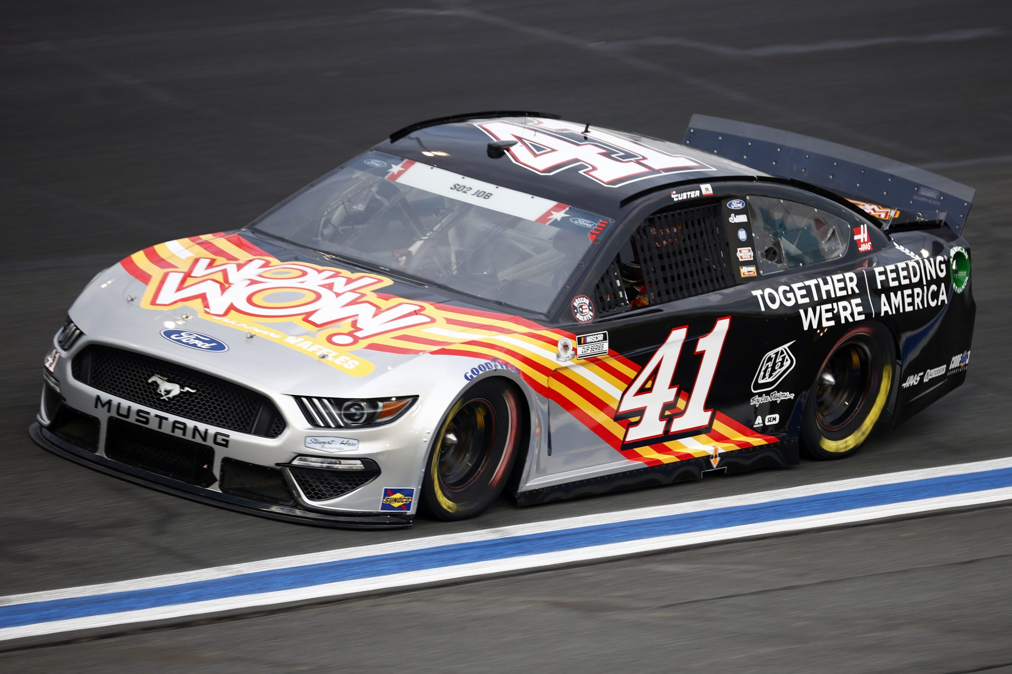 CONCORD, NORTH CAROLINA - MAY 28: Cole Custer, driver of the #41 Feeding America/Wow Wow Ford, drives during practice for the NASCAR Cup Series Coca-Cola 600 at Charlotte Motor Speedway on May 28, 2021 in Concord, North Carolina. (Photo by Jared C. Tilton/Getty Images) | Getty Images