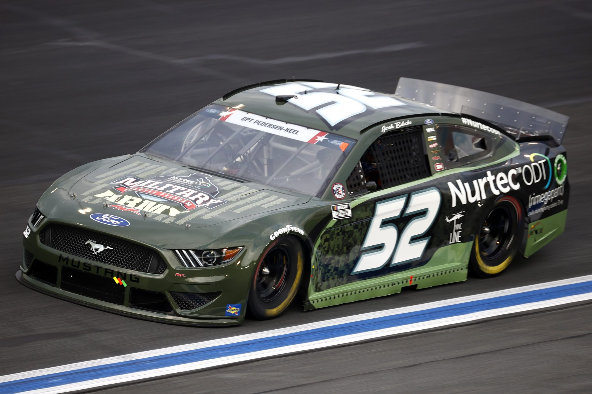 CONCORD, NORTH CAROLINA - MAY 28: Josh Bilicki, driver of the #52 US Army Military Salutes Ford, drives during practice for the NASCAR Cup Series Coca-Cola 600 at Charlotte Motor Speedway on May 28, 2021 in Concord, North Carolina. (Photo by Jared C. Tilton/Getty Images) | Getty Images