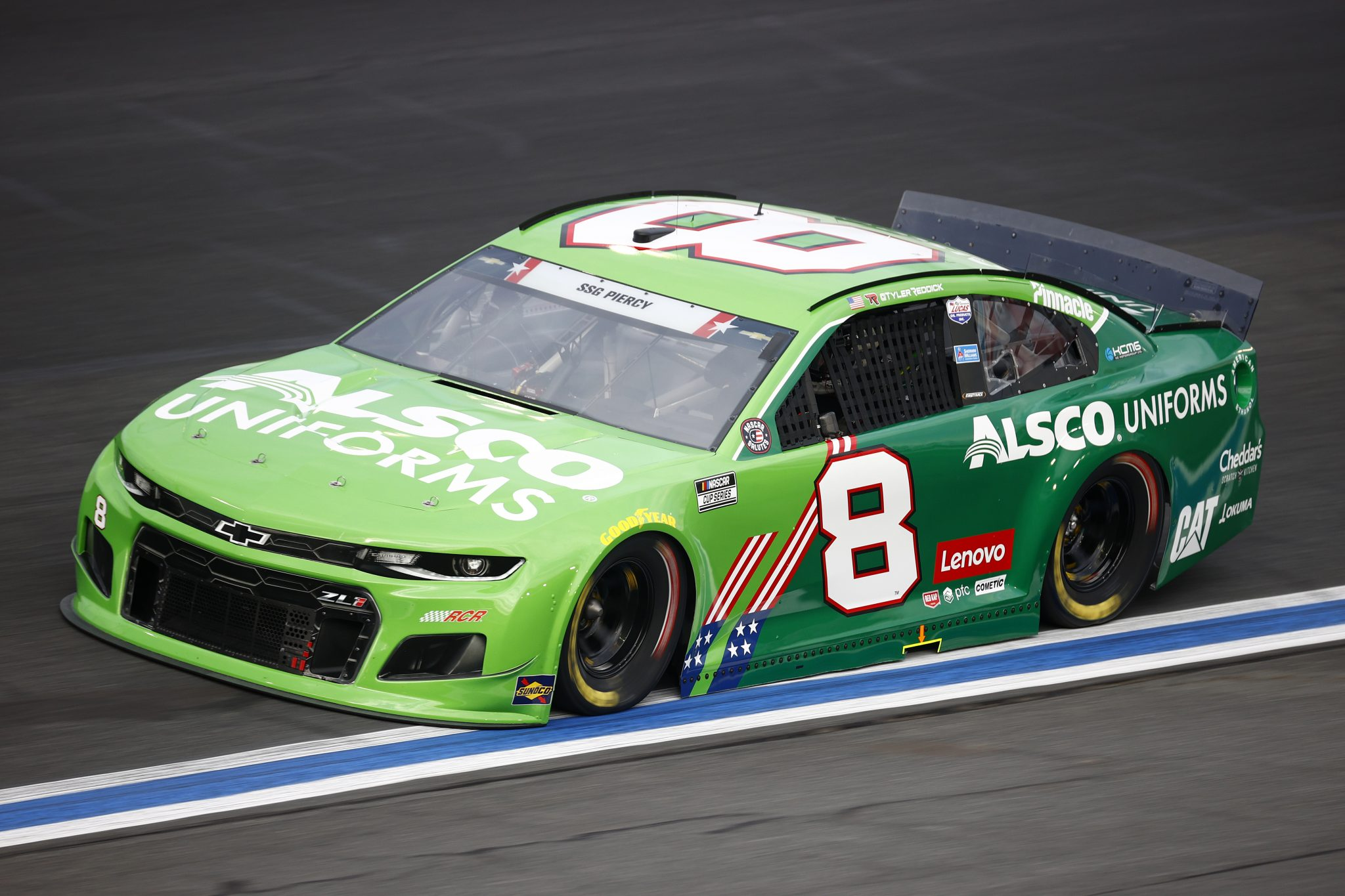 CONCORD, NORTH CAROLINA - MAY 28: Tyler Reddick, driver of the #8 Alsco Uniforms Chevrolet, drives during practice for the NASCAR Cup Series Coca-Cola 600 at Charlotte Motor Speedway on May 28, 2021 in Concord, North Carolina. (Photo by Jared C. Tilton/Getty Images) | Getty Images