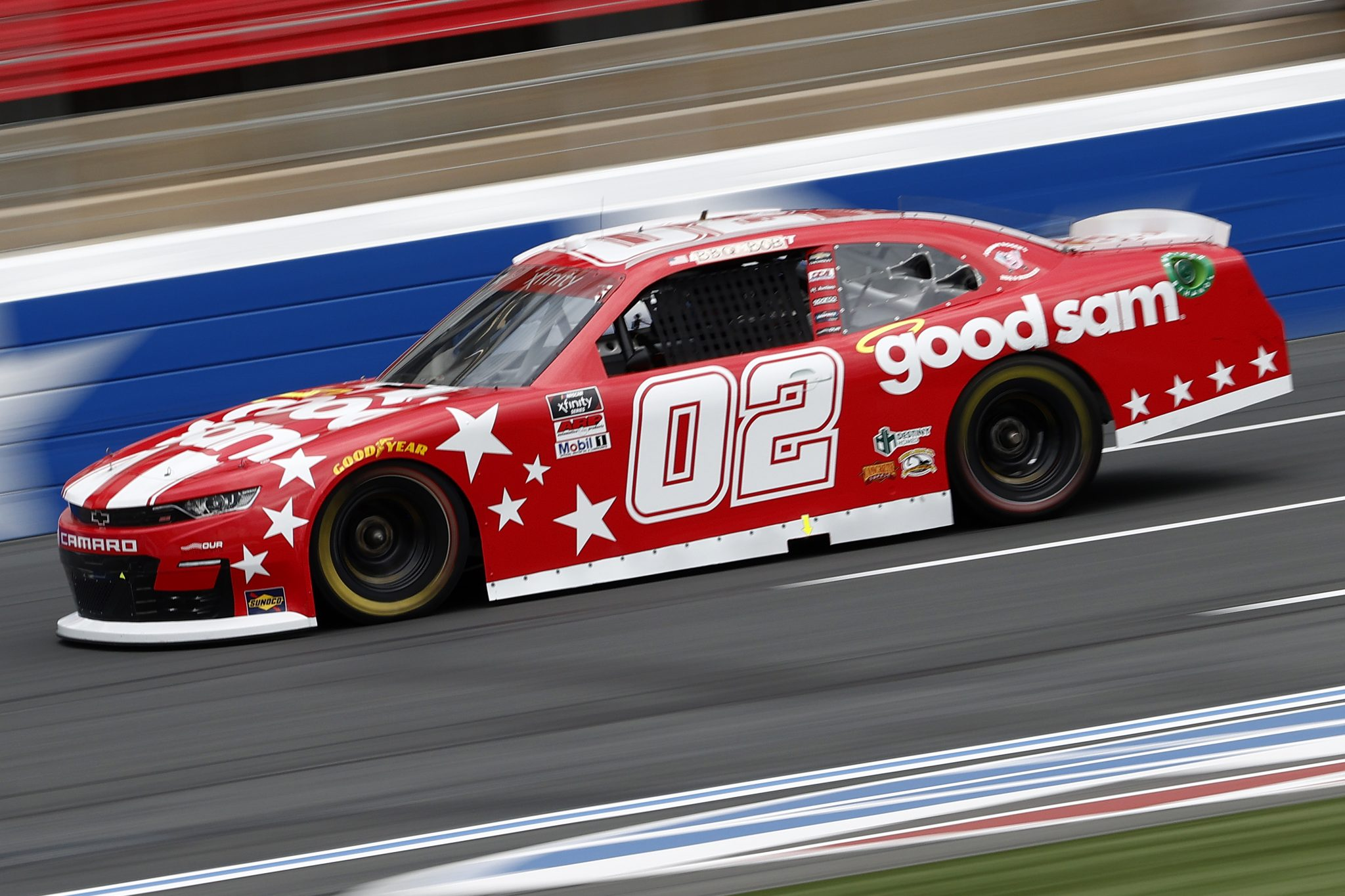 CONCORD, NORTH CAROLINA - MAY 28: Brett Moffitt, driver of the #02 Our Motorsports Chevrolet, drives during practice for the NASCAR Xfinity Series Alsco Uniforms 300 at Charlotte Motor Speedway on May 28, 2021 in Concord, North Carolina. (Photo by Maddie Meyer/Getty Images) | Getty Images