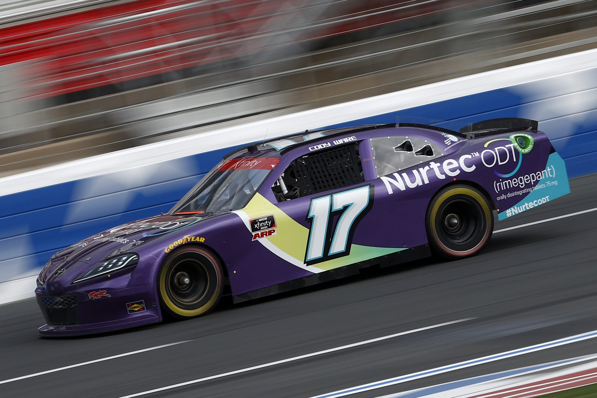 CONCORD, NORTH CAROLINA - MAY 28: Cody Ware, driver of the #17 Nurtec ODT Ford, drives during practice for the NASCAR Xfinity Series Alsco Uniforms 300 at Charlotte Motor Speedway on May 28, 2021 in Concord, North Carolina. (Photo by Maddie Meyer/Getty Images)   Getty Images