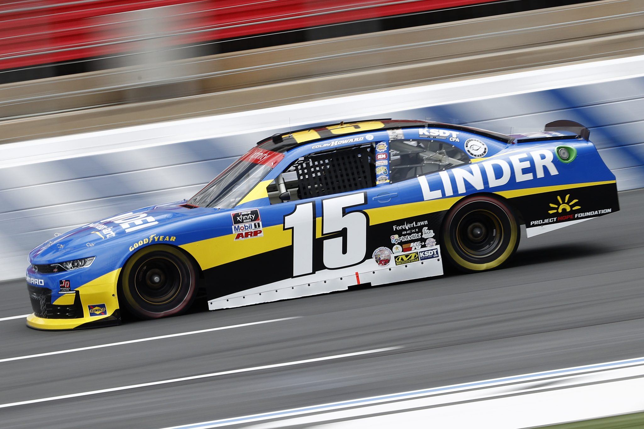 CONCORD, NORTH CAROLINA - MAY 28: Colby Howard, driver of the #15 Linder Chevrolet, drives during practice for the NASCAR Xfinity Series Alsco Uniforms 300 at Charlotte Motor Speedway on May 28, 2021 in Concord, North Carolina. (Photo by Maddie Meyer/Getty Images)   Getty Images