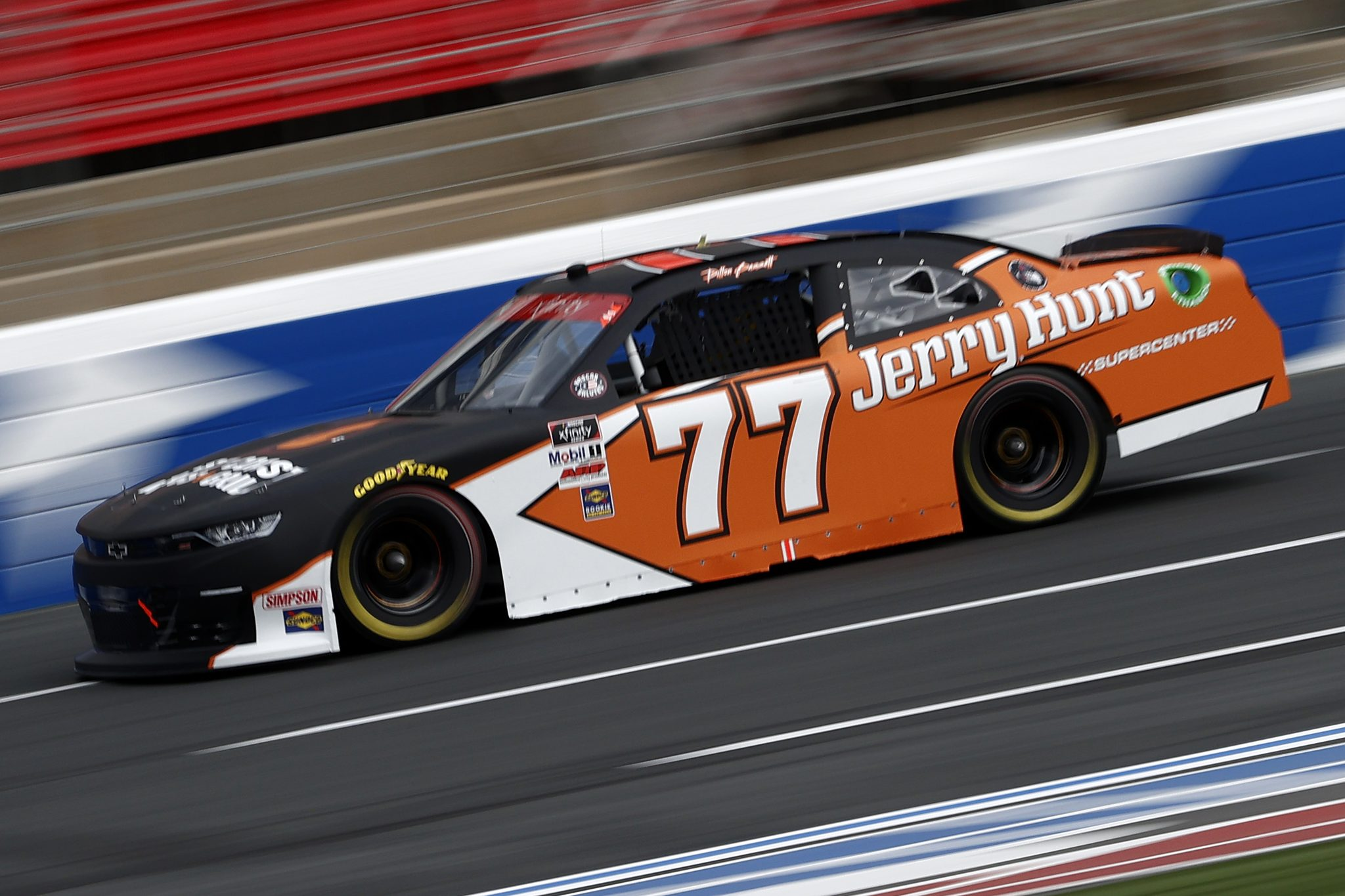 CONCORD, NORTH CAROLINA - MAY 28: Dillon Bassett, driver of the #77 Jerry Hunt Supercenter/East Coast Wings, drives during practice for the NASCAR Xfinity Series Alsco Uniforms 300 at Charlotte Motor Speedway on May 28, 2021 in Concord, North Carolina. (Photo by Maddie Meyer/Getty Images) | Getty Images