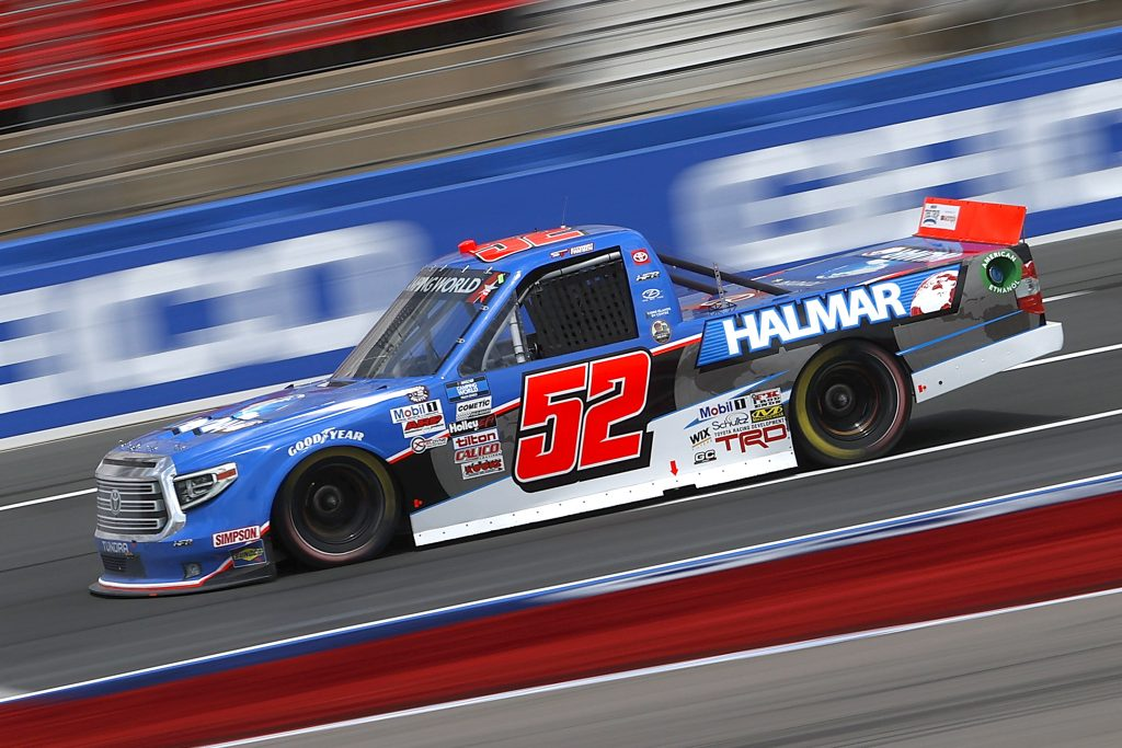 CONCORD, NORTH CAROLINA - MAY 28: Stewart Friesen, driver of the #52 Halmar International Toyota, drives during practice for the NASCAR Camping World Truck Series North Carolina Education Lottery 200 at Charlotte Motor Speedway on May 28, 2021 in Concord, North Carolina. (Photo by Maddie Meyer/Getty Images) | Getty Images
