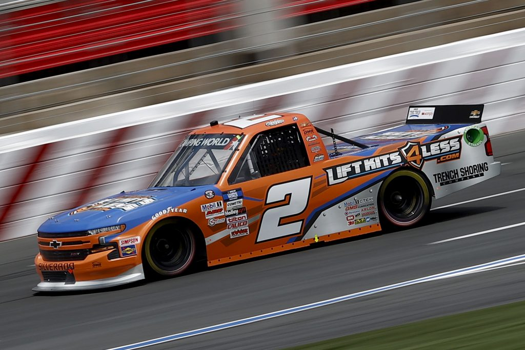 CONCORD, NORTH CAROLINA - MAY 28: Sheldon Creed, driver of the #2 Chevrolet, drives during practice for the NASCAR Camping World Truck Series North Carolina Education Lottery 200 at Charlotte Motor Speedway on May 28, 2021 in Concord, North Carolina. (Photo by Maddie Meyer/Getty Images) | Getty Images
