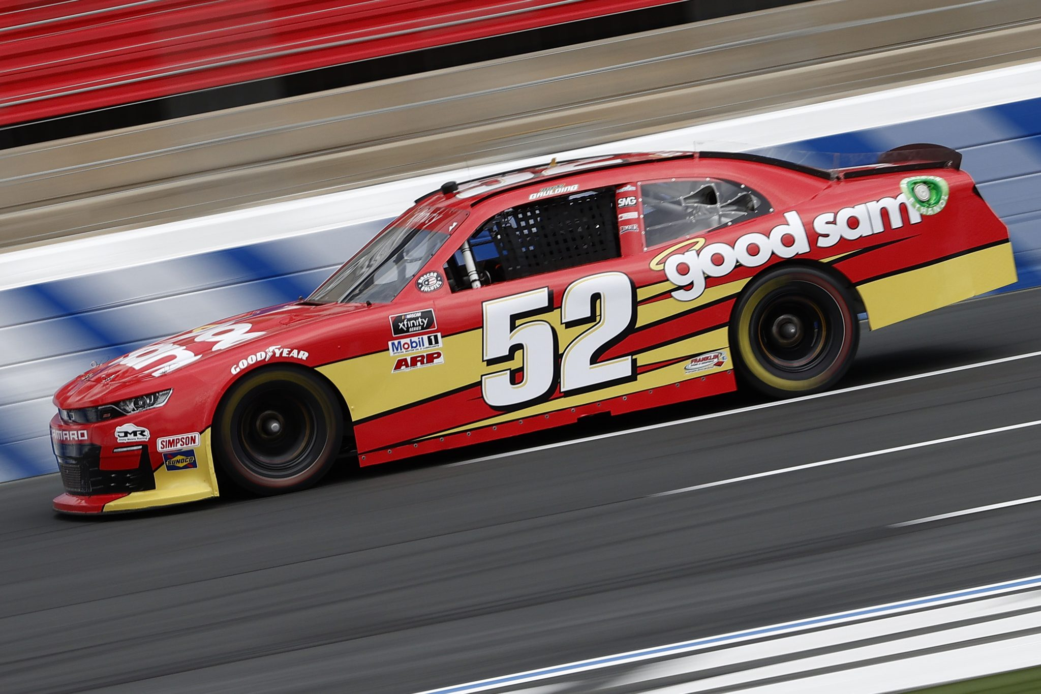 CONCORD, NORTH CAROLINA - MAY 28: Gray Gaulding, driver of the #52 Good Sam Chevrolet, drives during practice for the NASCAR Xfinity Series Alsco Uniforms 300 at Charlotte Motor Speedway on May 28, 2021 in Concord, North Carolina. (Photo by Maddie Meyer/Getty Images)   Getty Images