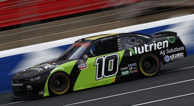 CONCORD, NORTH CAROLINA - MAY 28: Jeb Burton, driver of the #10 Nutrien Ag Solutions Chevrolet, drives during practice for the NASCAR Xfinity Series Alsco Uniforms 300 at Charlotte Motor Speedway on May 28, 2021 in Concord, North Carolina. (Photo by Maddie Meyer/Getty Images) | Getty Images