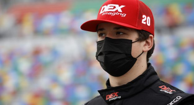 DAYTONA BEACH, FLORIDA - FEBRUARY 13: Harrison Burton, driver of the #20 DEX Imaging Toyota, waits on the grid prior to the NASCAR Xfinity Series Beef. It's What's For Dinner. 300 at Daytona International Speedway on February 13, 2021 in Daytona Beach, Florida. (Photo by Chris Graythen/Getty Images) | Getty Images
