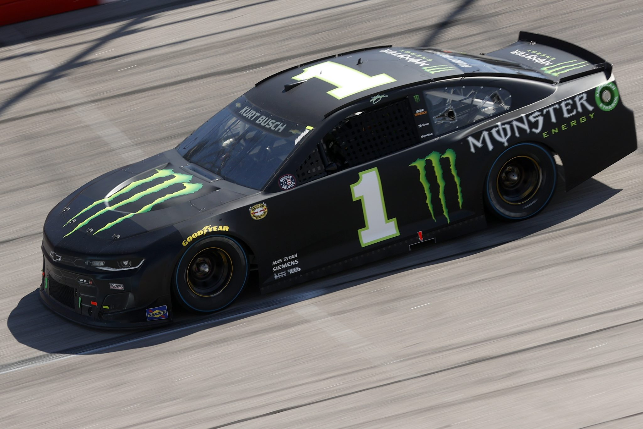DARLINGTON, SOUTH CAROLINA - MAY 09: Kurt Busch, driver of the #1 Monster Energy Chevrolet, drives during the NASCAR Cup Series Goodyear 400 at Darlington Raceway on May 09, 2021 in Darlington, South Carolina. (Photo by Chris Graythen/Getty Images) | Getty Images