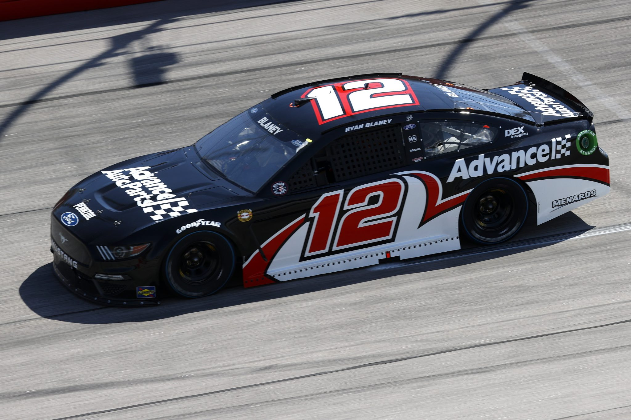 DARLINGTON, SOUTH CAROLINA - MAY 09: Ryan Blaney, driver of the #12 Advance Auto Parts Ford, drives during the NASCAR Cup Series Goodyear 400 at Darlington Raceway on May 09, 2021 in Darlington, South Carolina. (Photo by Chris Graythen/Getty Images) | Getty Images