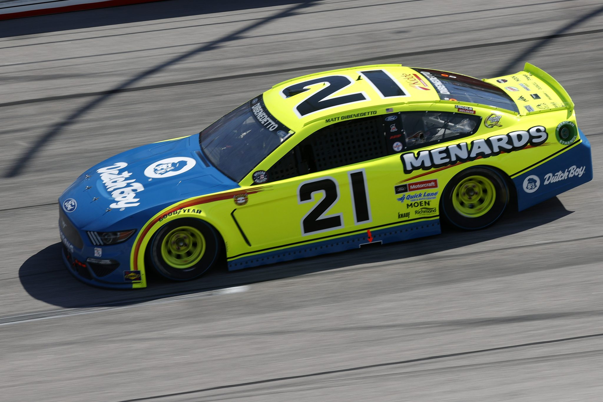 DARLINGTON, SOUTH CAROLINA - MAY 09: Matt DiBenedetto, driver of the #21 Menards/Dutch Boy Ford, drives during the NASCAR Cup Series Goodyear 400 at Darlington Raceway on May 09, 2021 in Darlington, South Carolina. (Photo by Chris Graythen/Getty Images) | Getty Images