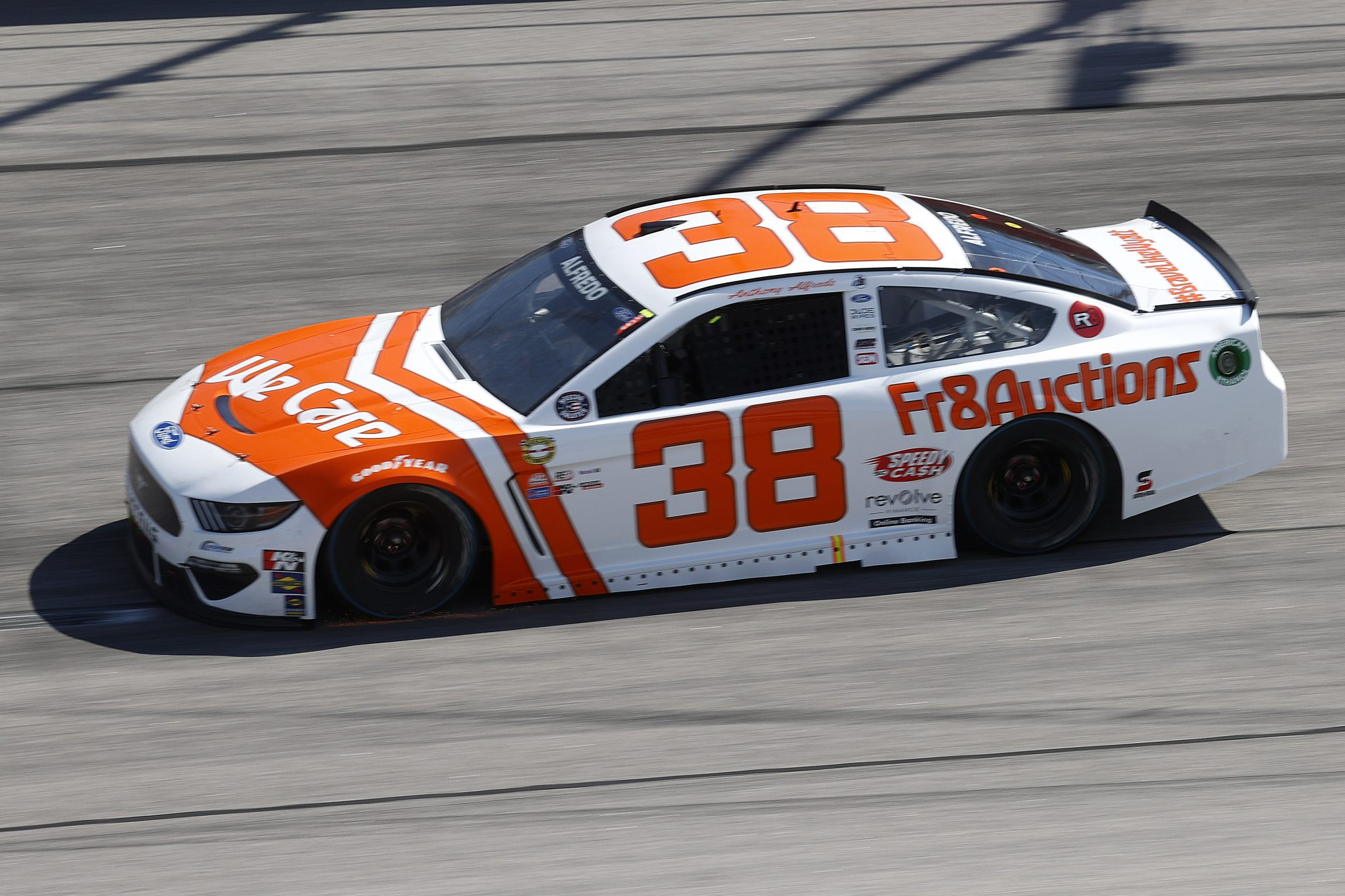 DARLINGTON, SOUTH CAROLINA - MAY 09:Anthony Alfredo, driver of the #38 We Care Ford, drives during the NASCAR Cup Series Goodyear 400 at Darlington Raceway on May 09, 2021 in Darlington, South Carolina. (Photo by Chris Graythen/Getty Images) | Getty Images