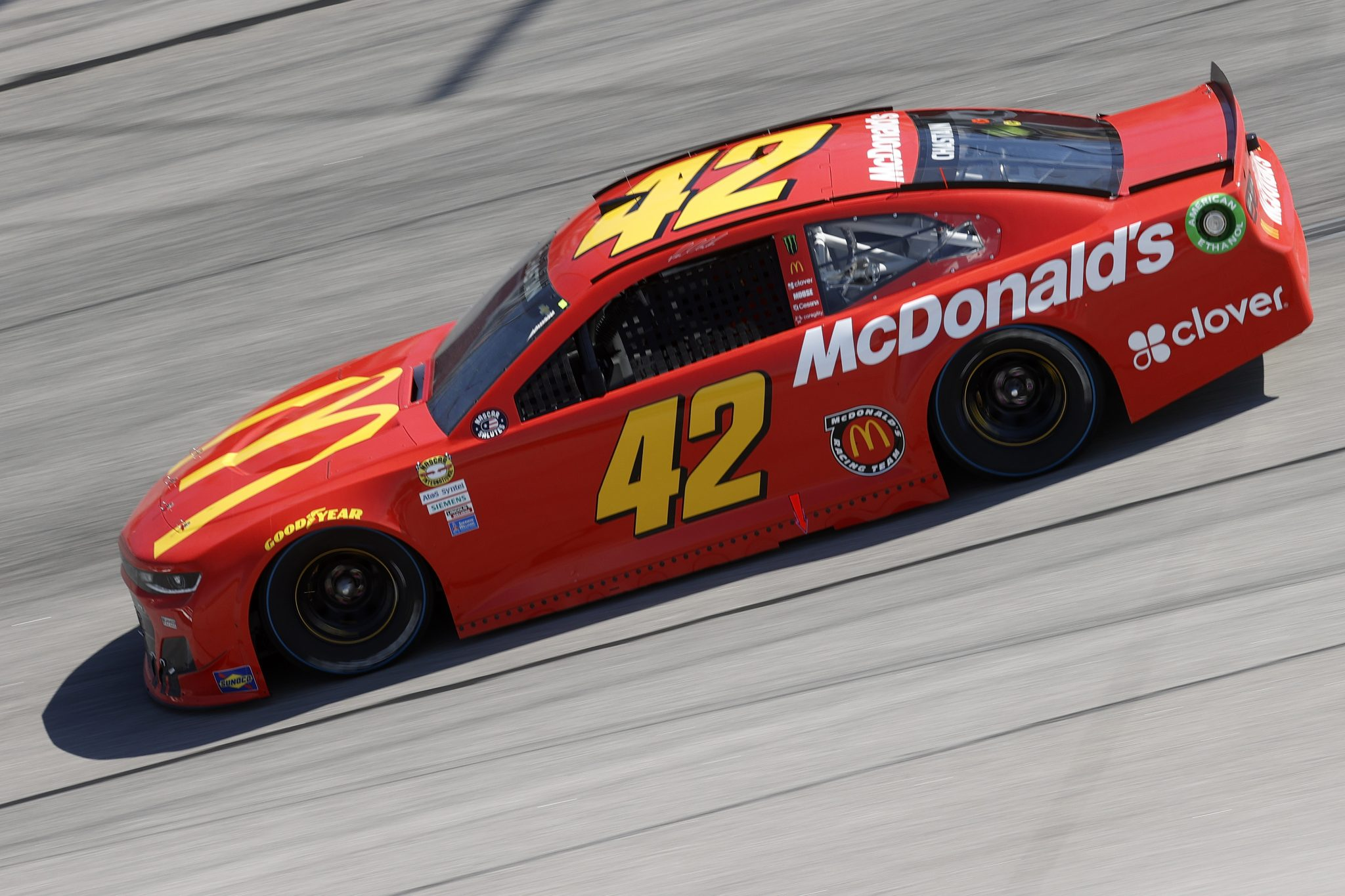 DARLINGTON, SOUTH CAROLINA - MAY 09: Ross Chastain, driver of the #42 McDonald's Chevrolet, drives during the NASCAR Cup Series Goodyear 400 at Darlington Raceway on May 09, 2021 in Darlington, South Carolina. (Photo by Chris Graythen/Getty Images) | Getty Images