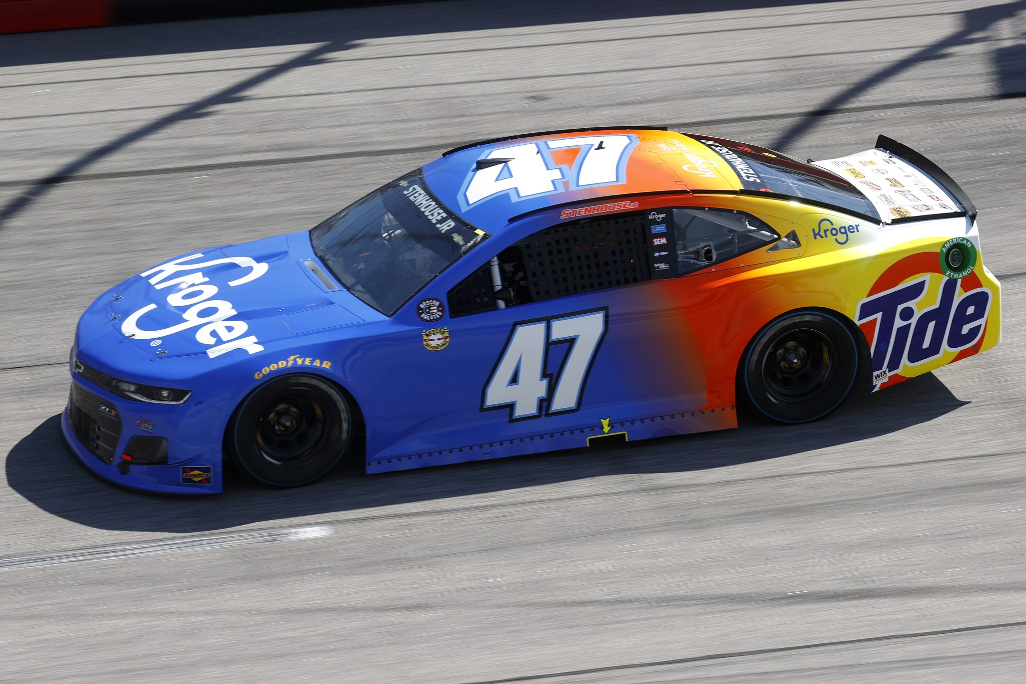 DARLINGTON, SOUTH CAROLINA - MAY 09: Ricky Stenhouse Jr., driver of the #47 Kroger/Tide Chevrolet, drives during the NASCAR Cup Series Goodyear 400 at Darlington Raceway on May 09, 2021 in Darlington, South Carolina. (Photo by Chris Graythen/Getty Images) | Getty Images