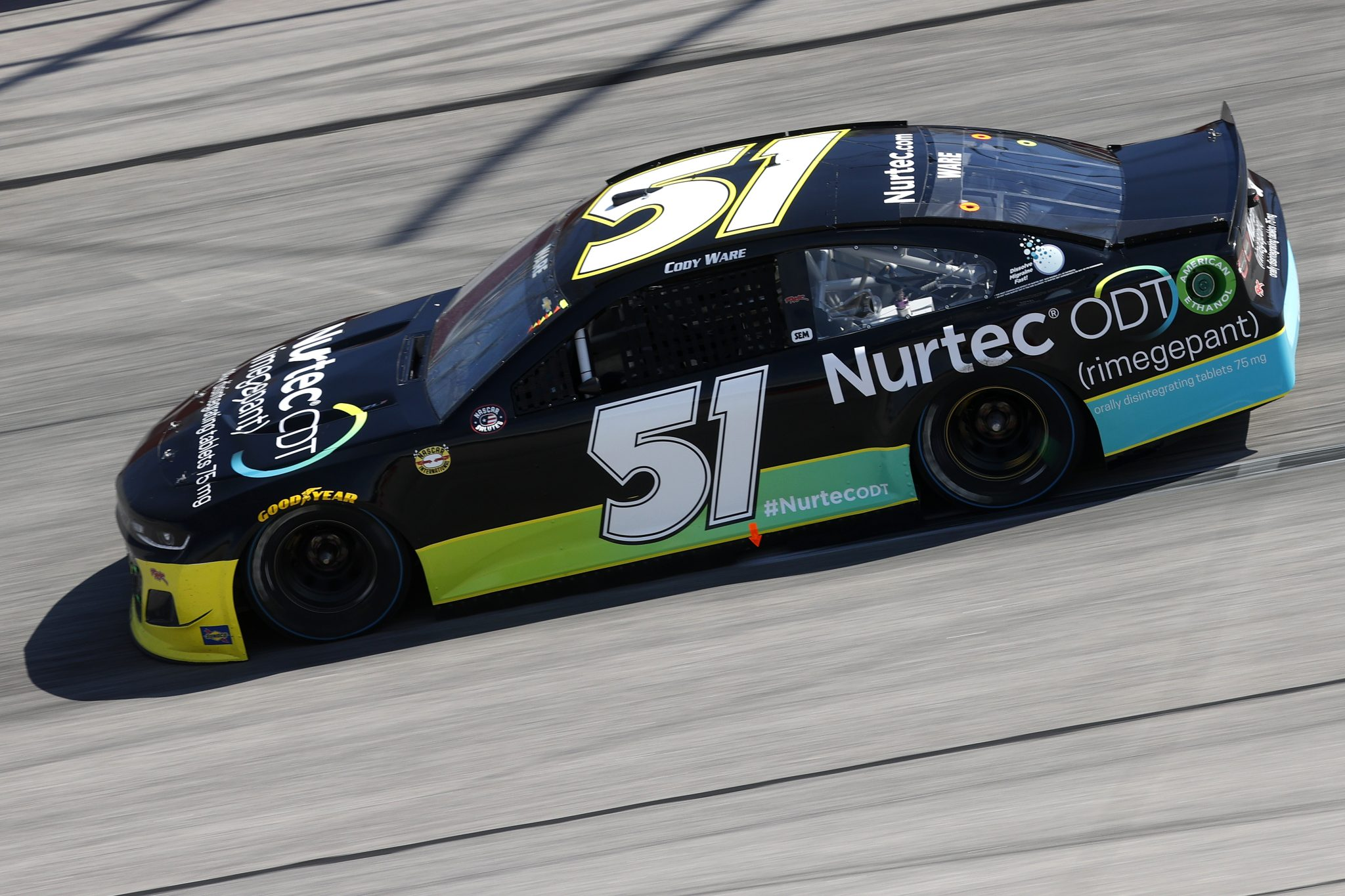 DARLINGTON, SOUTH CAROLINA - MAY 09: Cody Ware, driver of the #51 NURTEC ODT Throwback Chevrolet, drives during the NASCAR Cup Series Goodyear 400 at Darlington Raceway on May 09, 2021 in Darlington, South Carolina. (Photo by Chris Graythen/Getty Images) | Getty Images