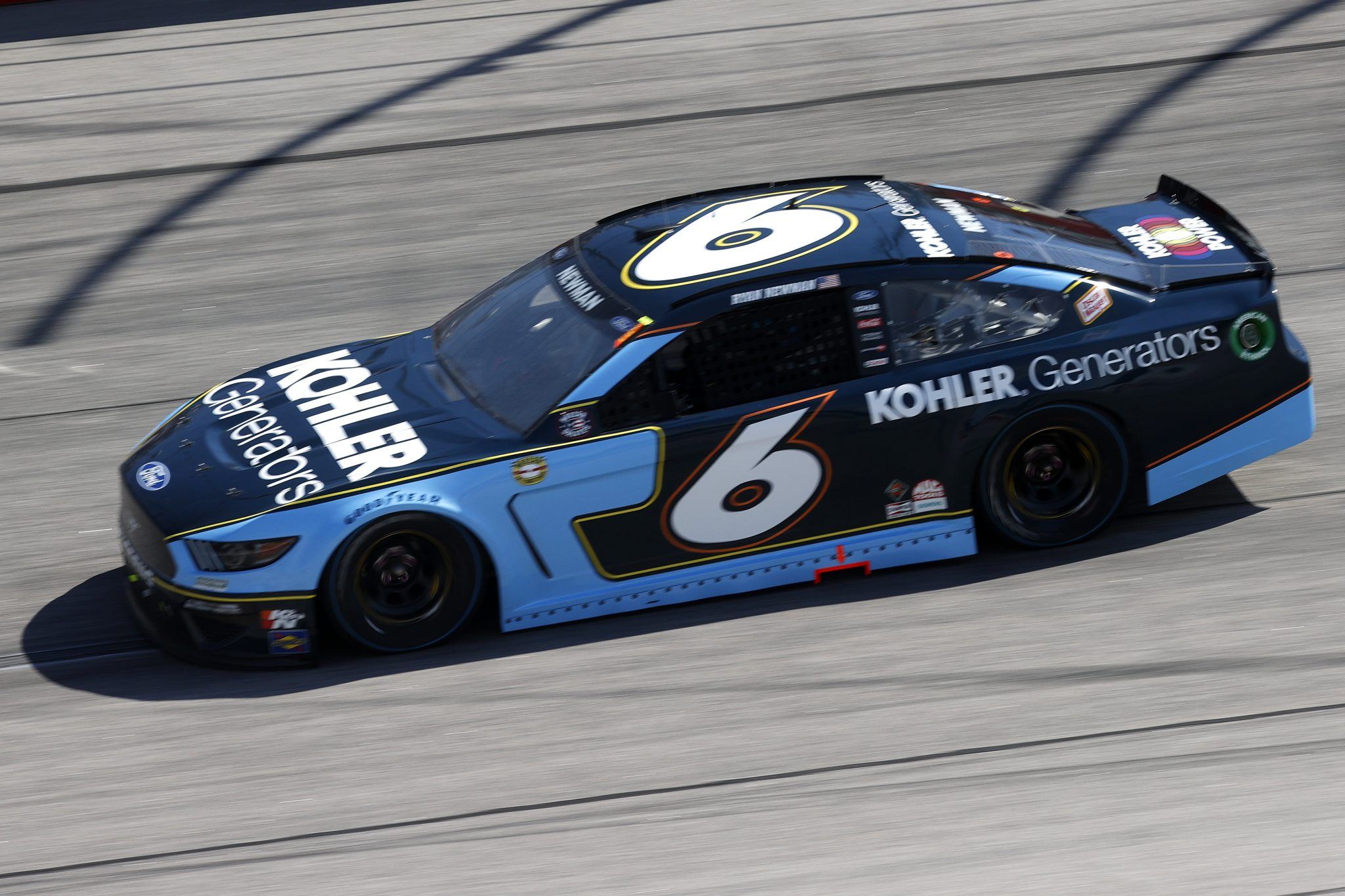 DARLINGTON, SOUTH CAROLINA - MAY 09: Ryan Newman, driver of the #6 Kohler Generators Ford, drives during the NASCAR Cup Series Goodyear 400 at Darlington Raceway on May 09, 2021 in Darlington, South Carolina. (Photo by Chris Graythen/Getty Images) | Getty Images