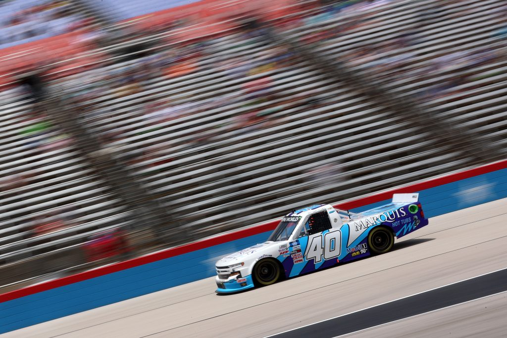 FORT WORTH, TEXAS - JUNE 12: Ryan Truex, driver of the #40 Marquis Spas Chevrolet, drives during the NASCAR Camping World Truck Series SpeedyCash.com 220 at Texas Motor Speedway on June 12, 2021 in Fort Worth, Texas. (Photo by Carmen Mandato/Getty Images)   Getty Images