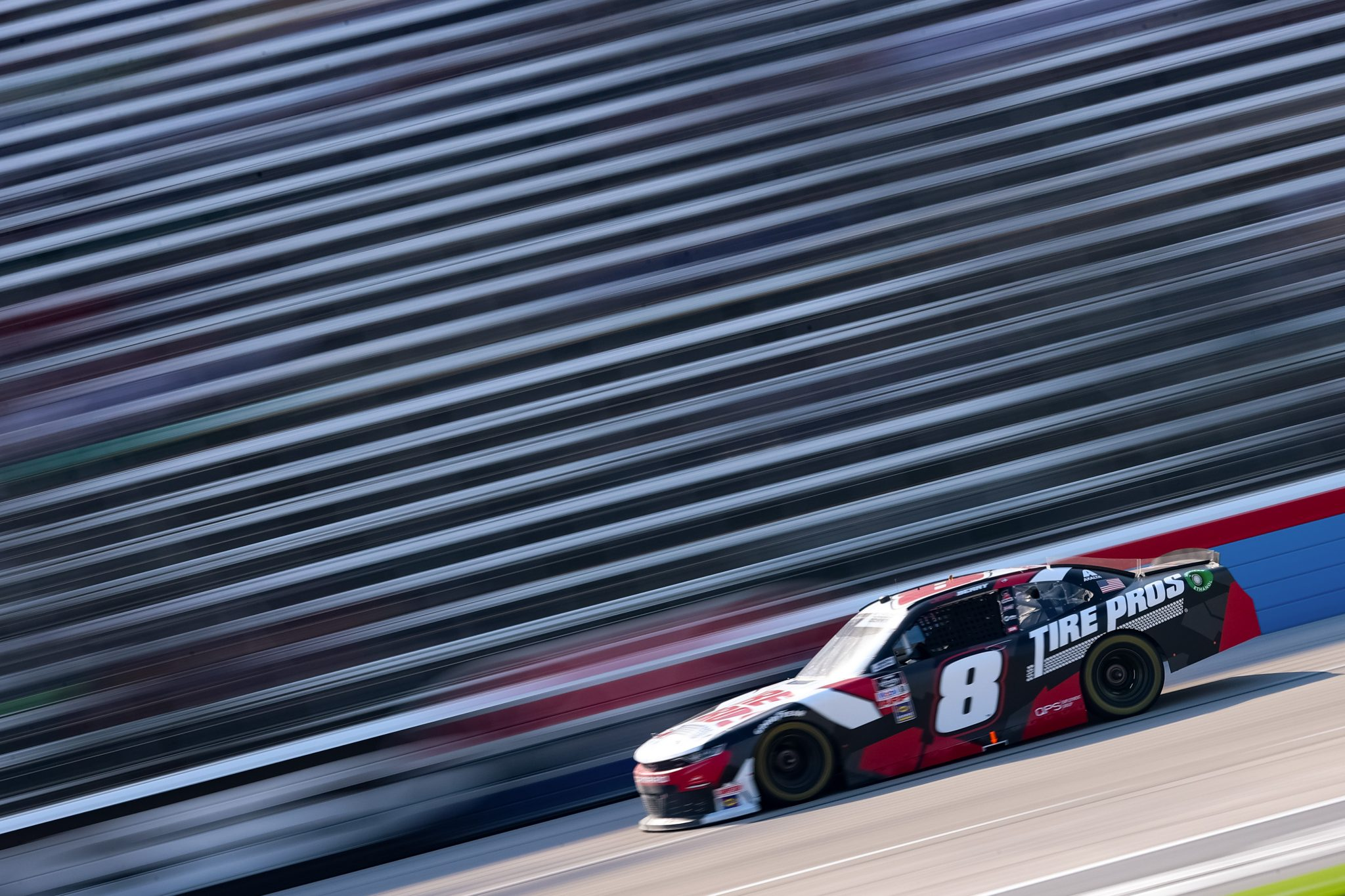 FORT WORTH, TEXAS - JUNE 12: Josh Berry, driver of the #8 Tire Pros Chevrolet, drives during the NASCAR Xfinity Series Alsco Uniforms 250 at Texas Motor Speedway on June 12, 2021 in Fort Worth, Texas. (Photo by Carmen Mandato/Getty Images) | Getty Images