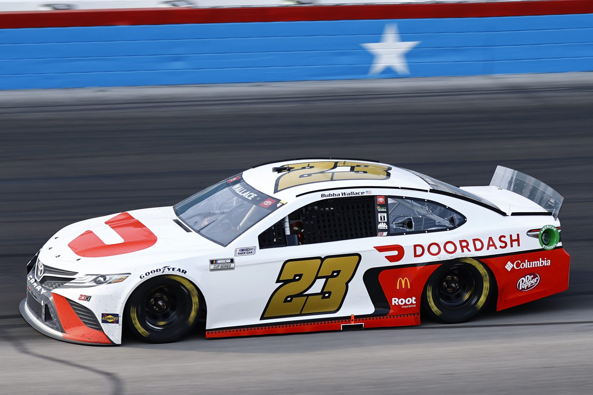 FORT WORTH, TEXAS - JUNE 13: Bubba Wallace, driver of the #23 Door Dash Toyota, drives during the NASCAR All-Star Open at Texas Motor Speedway on June 13, 2021 in Fort Worth, Texas. (Photo by Jared C. Tilton/Getty Images)   Getty Images